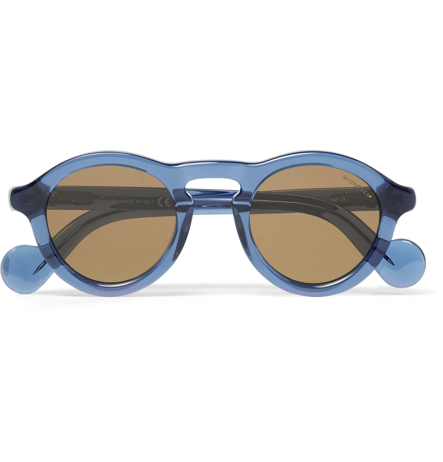 Moncler Round-frame Acatete Polarised Sunglasses - Black CPRJb