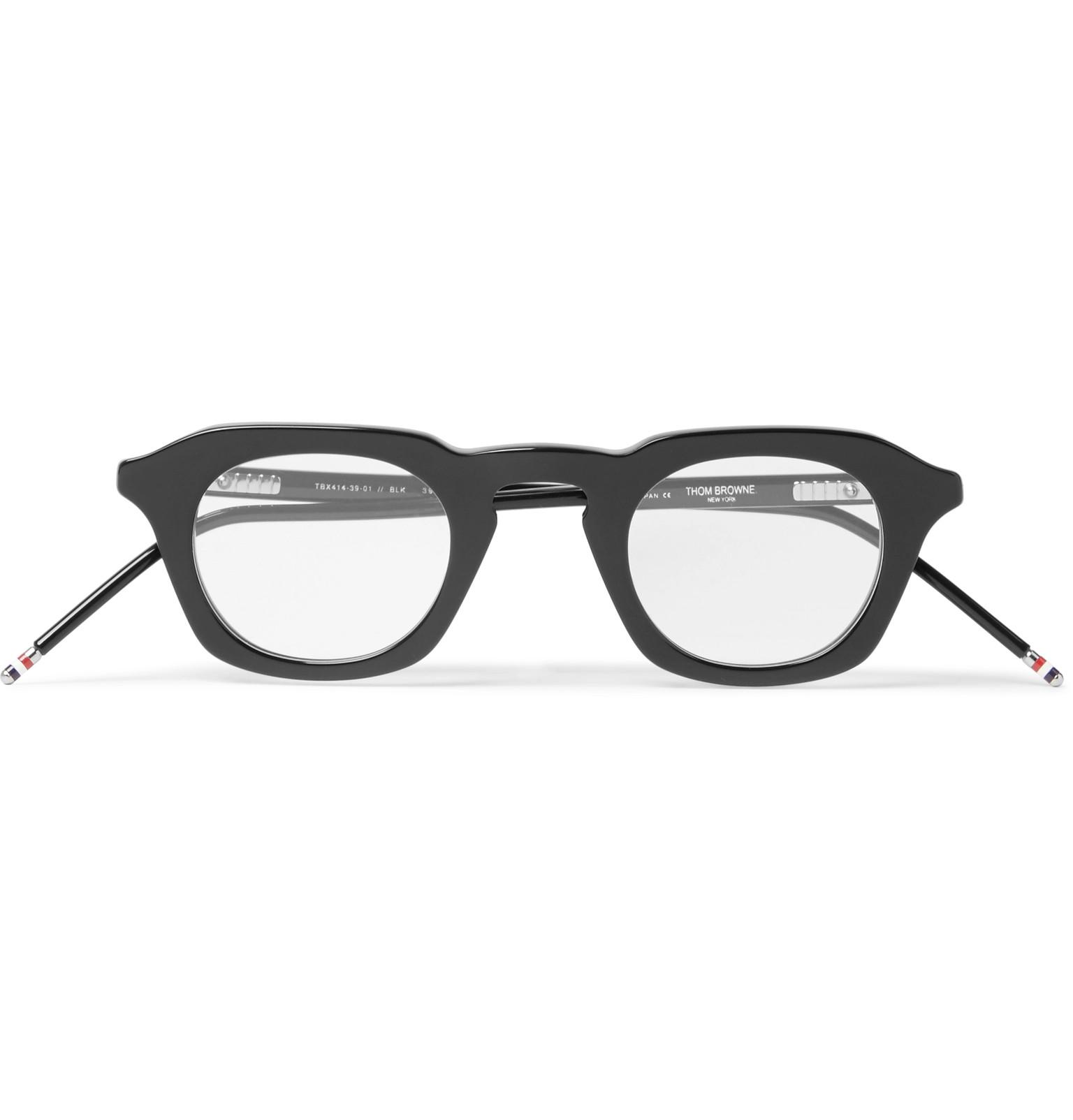 c8f644c26f Lyst - Thom Browne 414 D-frame Acetate Optical Glasses in Black for Men