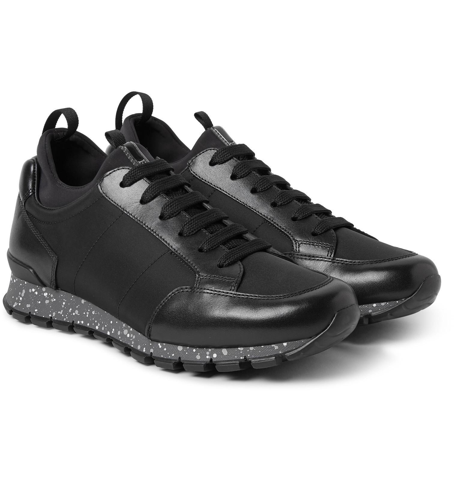 Prada Mens Shoes High Sneakers Black