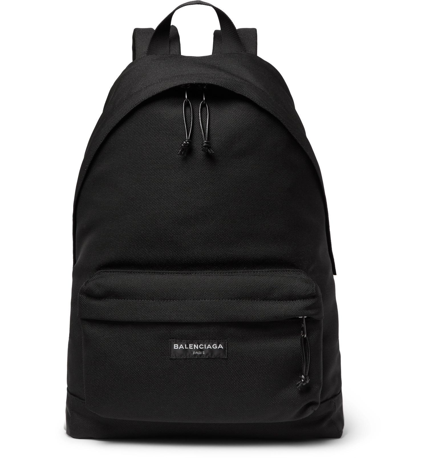 Balenciaga Explorer Nylon Backpack in Black for Men