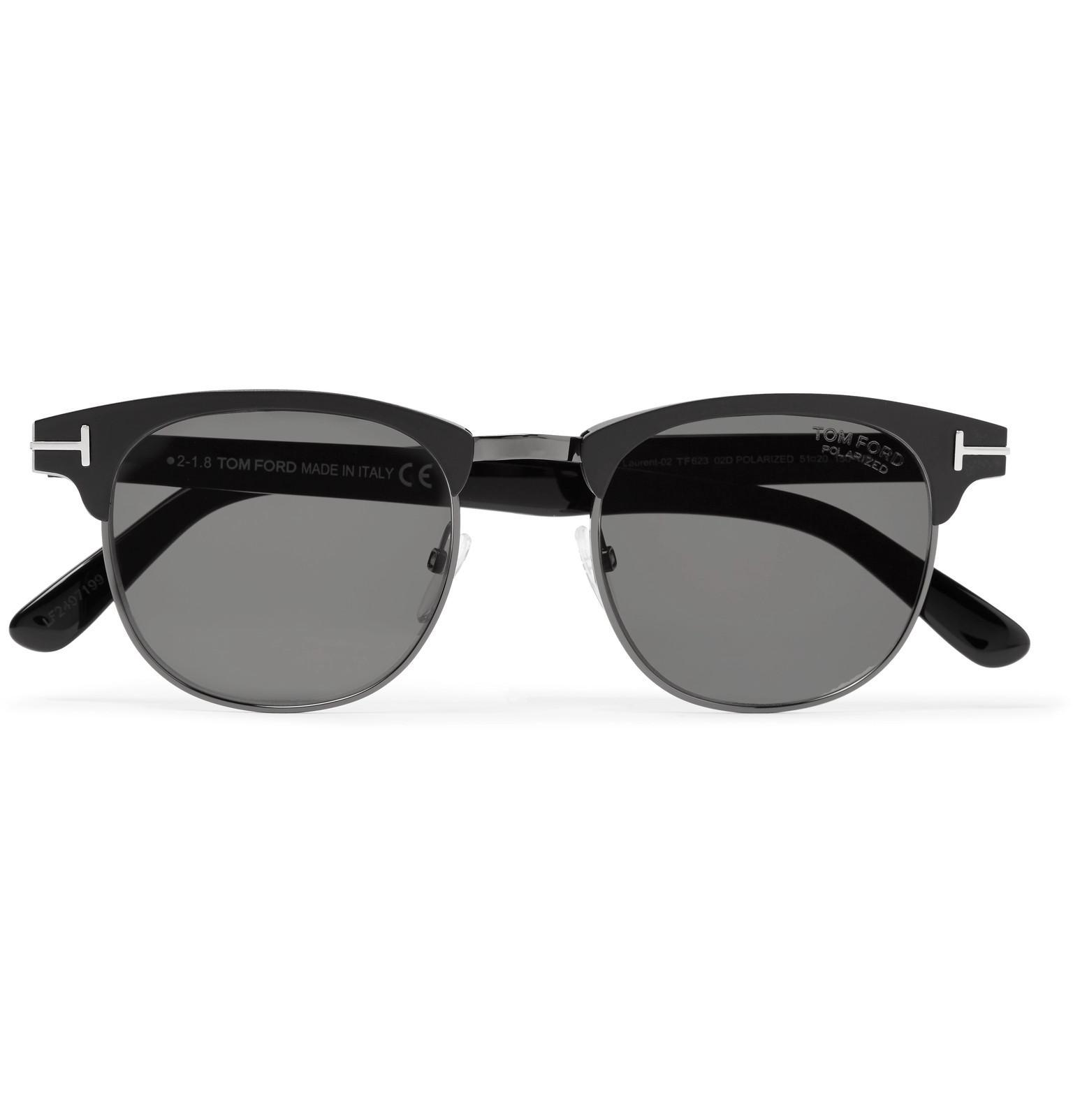 a50e57e92b8 Tom Ford. Men s Black Laurent D-frame Acetate And Gunmetal-tone Polarised  Sunglasses