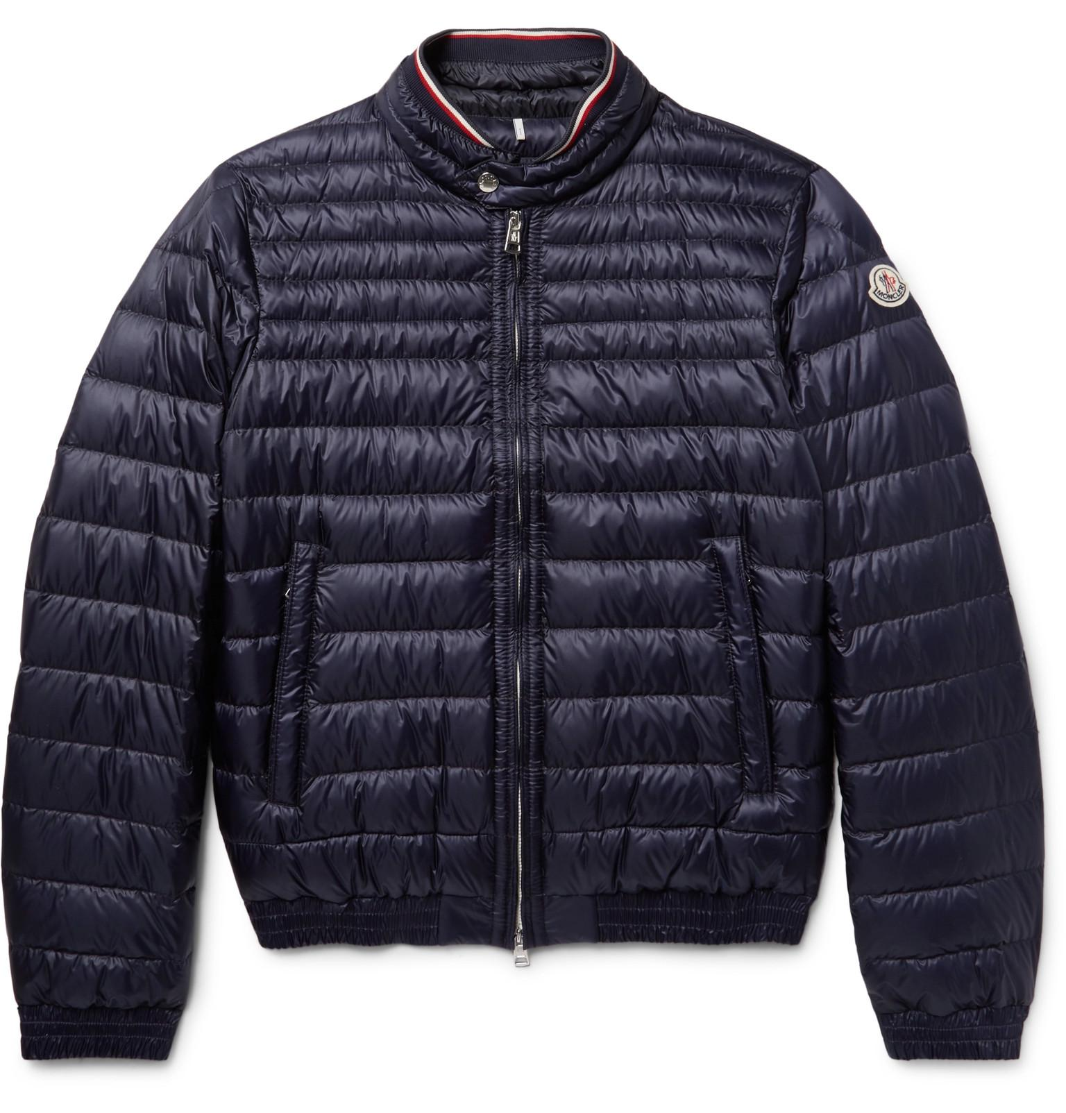 Moncler Garin Quilted Shell Down Jacket In Blue For Men Lyst