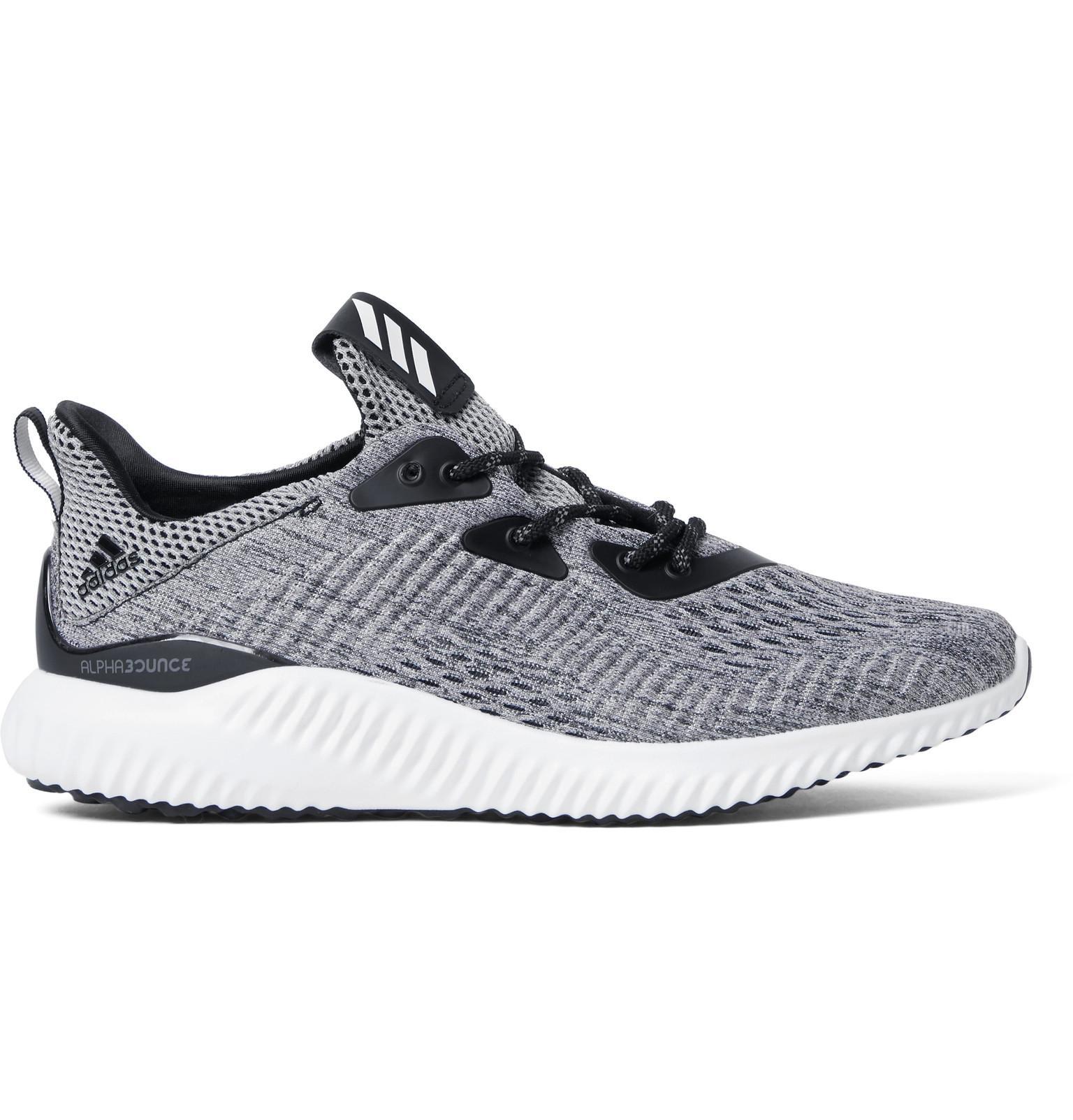 Adidas Originals Alphabounce Mesh Sneakers In Gray For Men