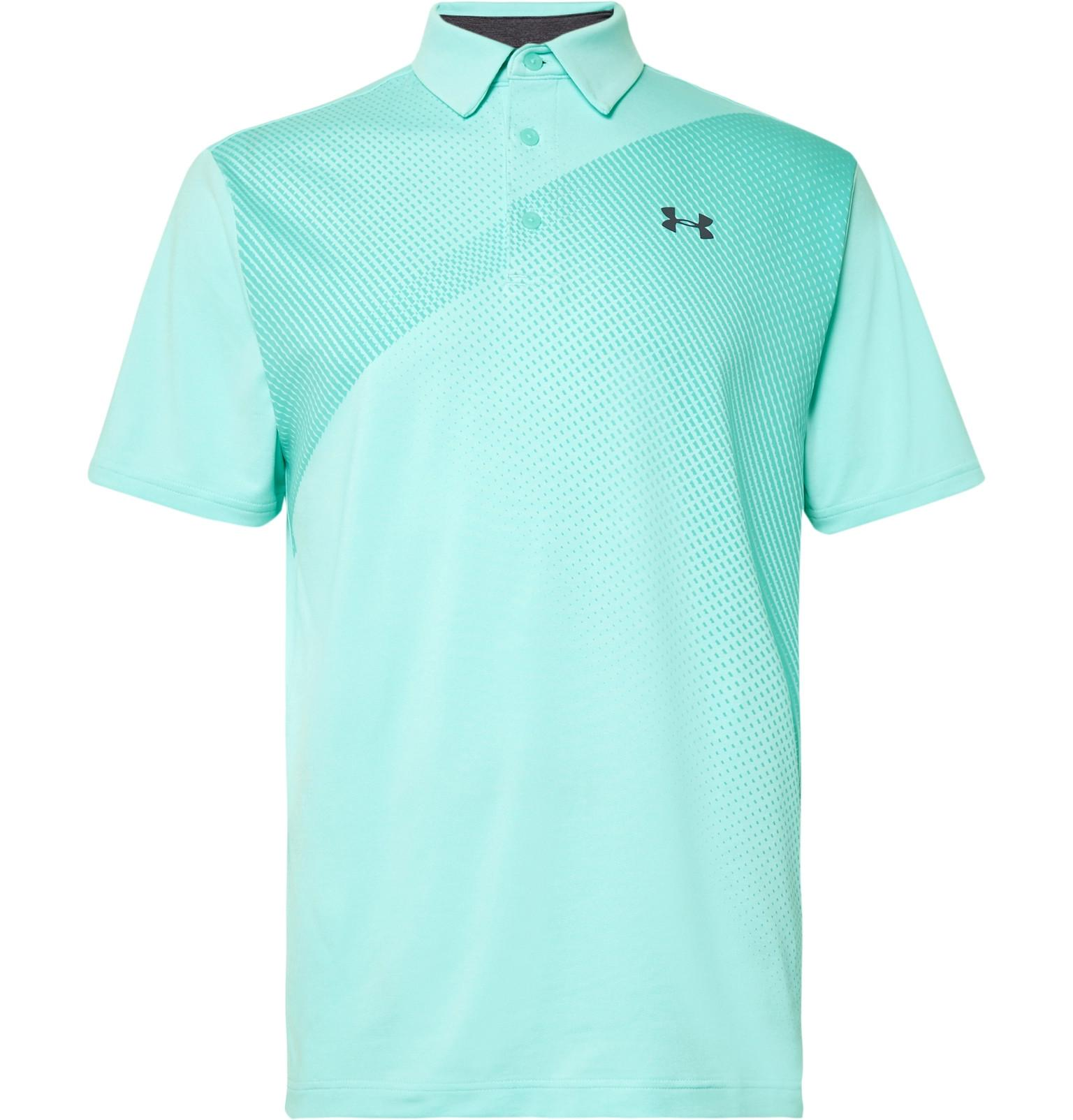 b2f5d7a60a246e Under Armour Playoff 2.0 Heatgear Golf Polo Shirt in Blue for Men - Lyst
