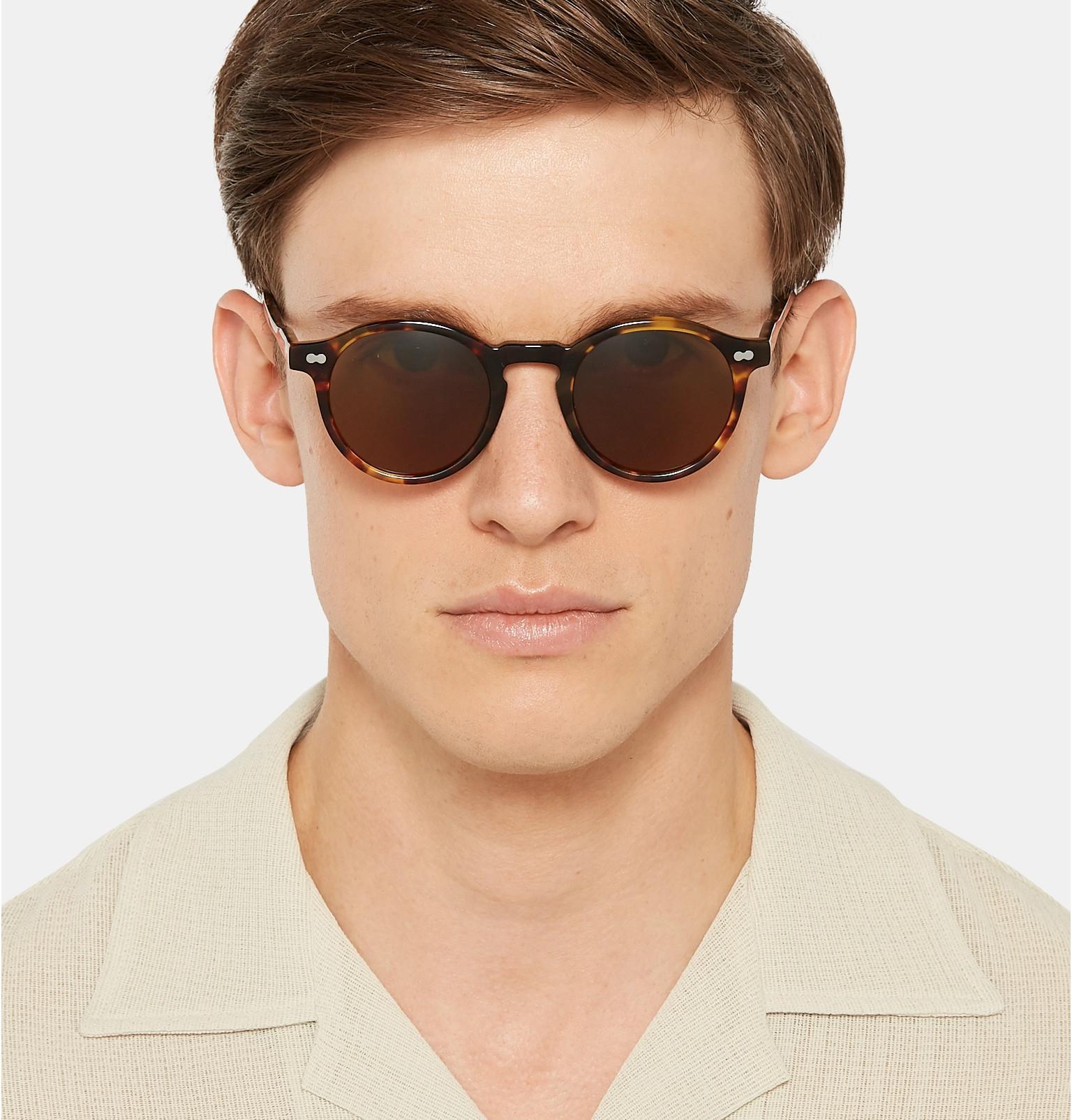 0f010bed920bb ... Miltzen Round-frame Tortoiseshell Acetate Sunglasses for Men - Lyst.  View fullscreen
