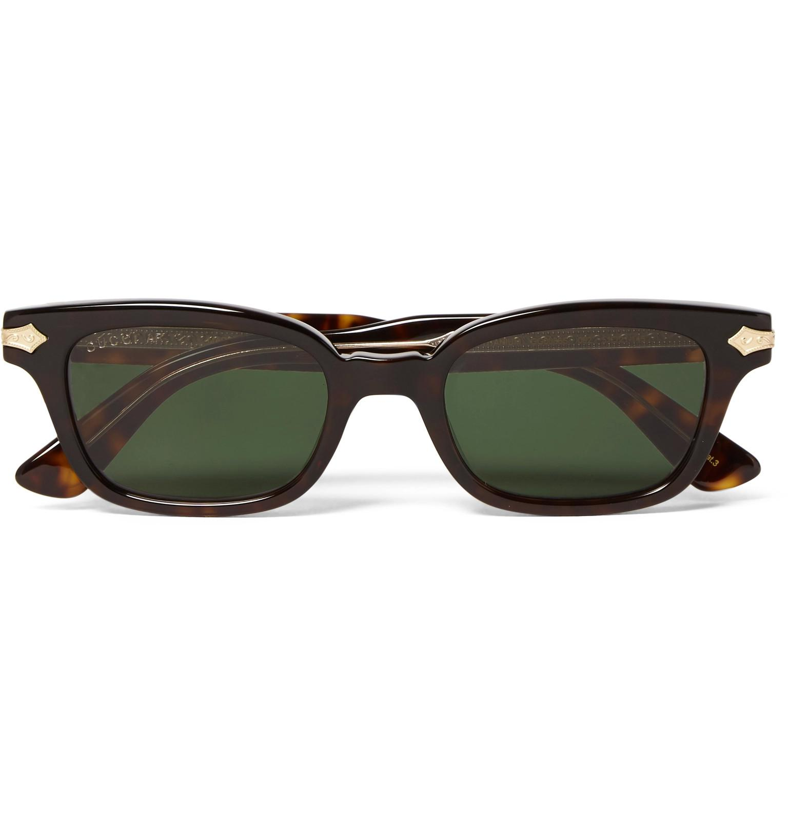 9f3c41437c3 Gucci Square-frame Tortoiseshell Acetate And Gold-tone Sunglasses in Brown  for Men