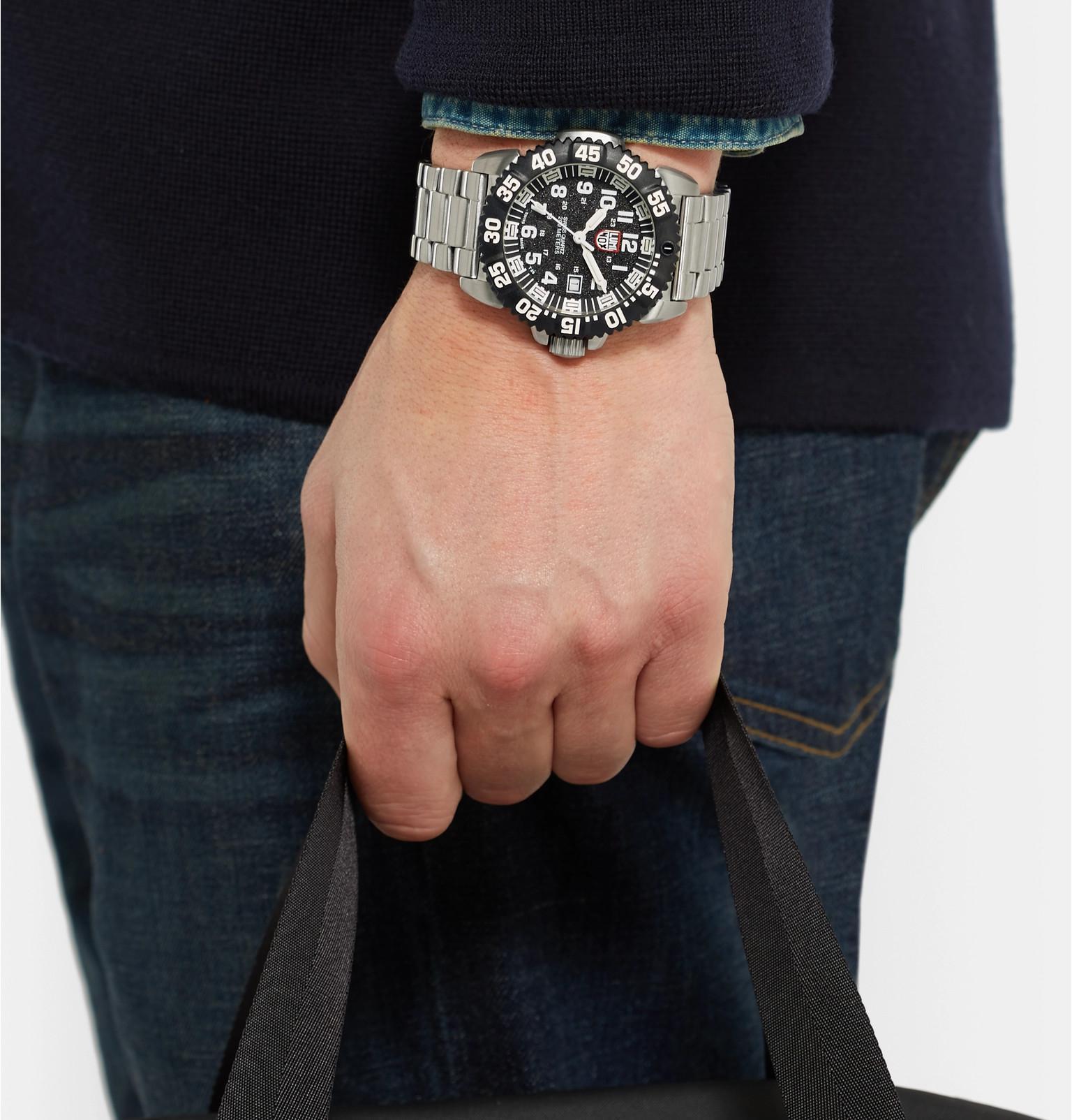 dd6335ca141d Lyst - Luminox Navy Seal Colormark 3152 Series Stainless Steel Watch ...