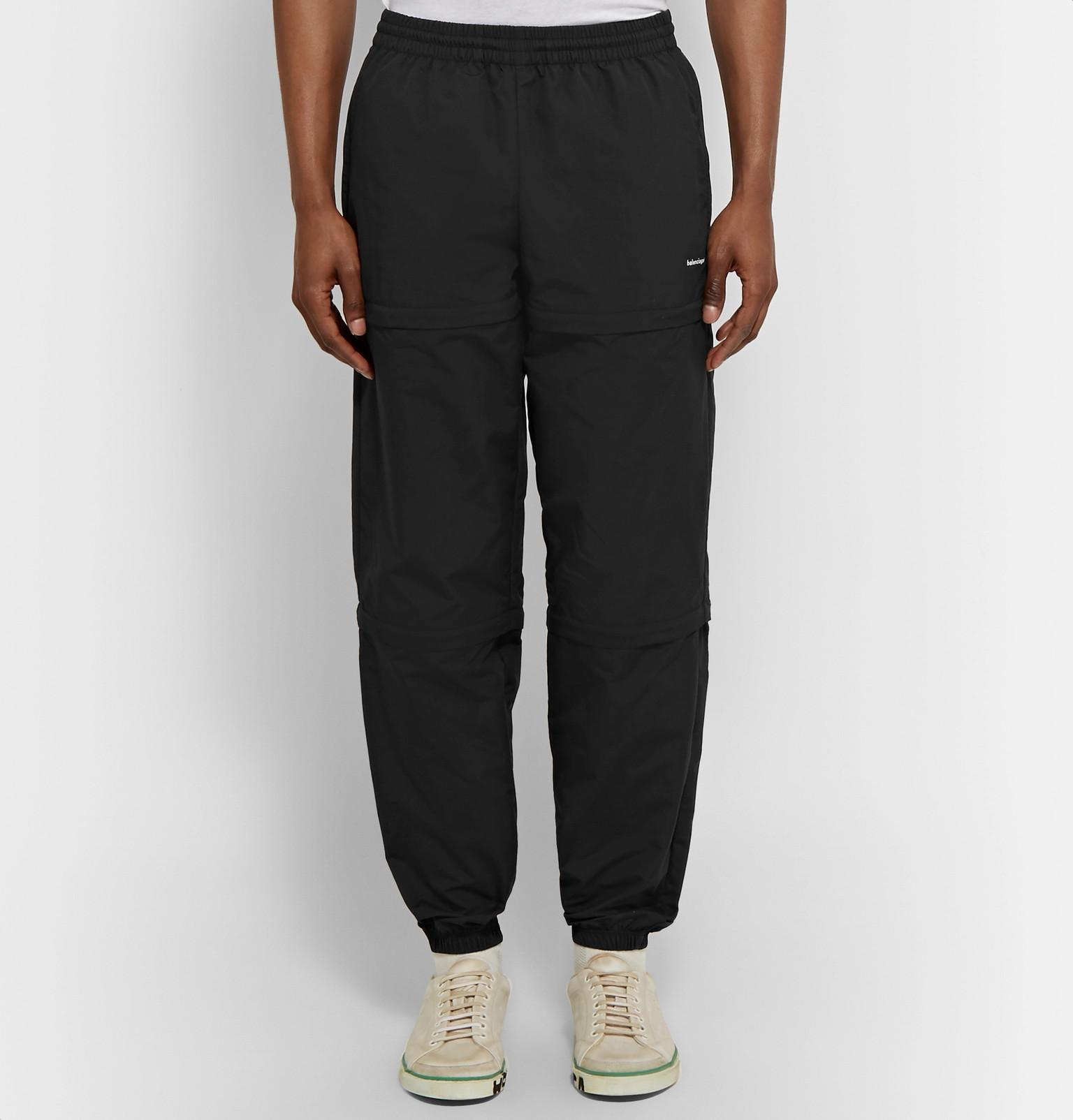 5337b69c44dd Lyst - Balenciaga Tapered Zip-panelled Shell Trousers in Black for Men