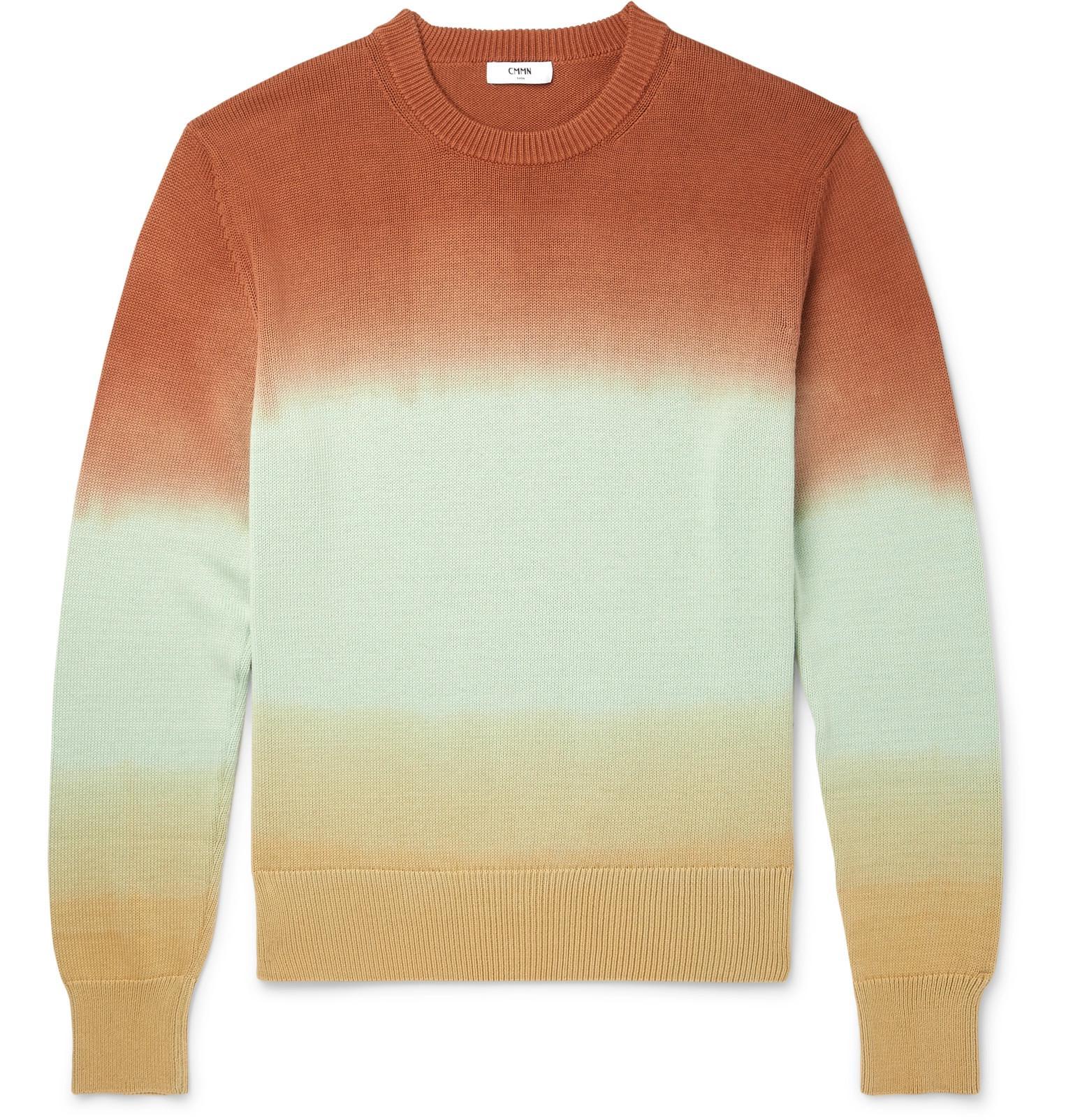 CMMN SWDN Colby Dégradé Cotton Sweater - Mint jR1TpP5L