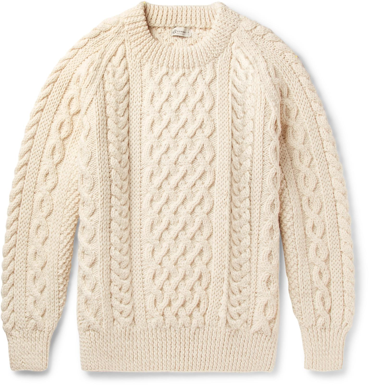 bfd74c475484b7 Lyst - CONNOLLY Aran Wool Sweater in Natural for Men