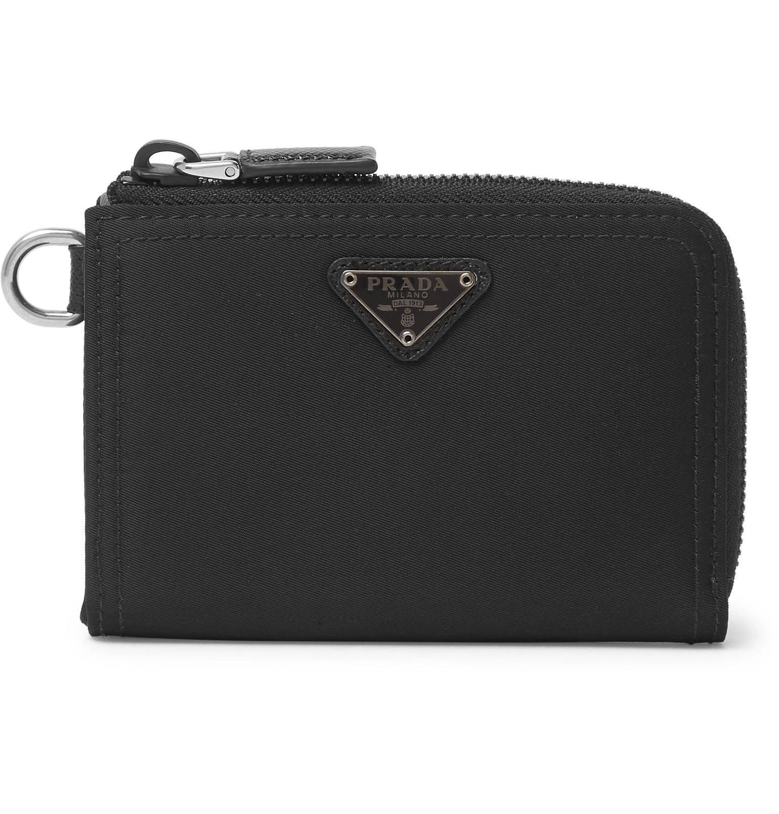 22f513f25de51d Prada Nylon Zip-around Wallet in Black for Men - Lyst