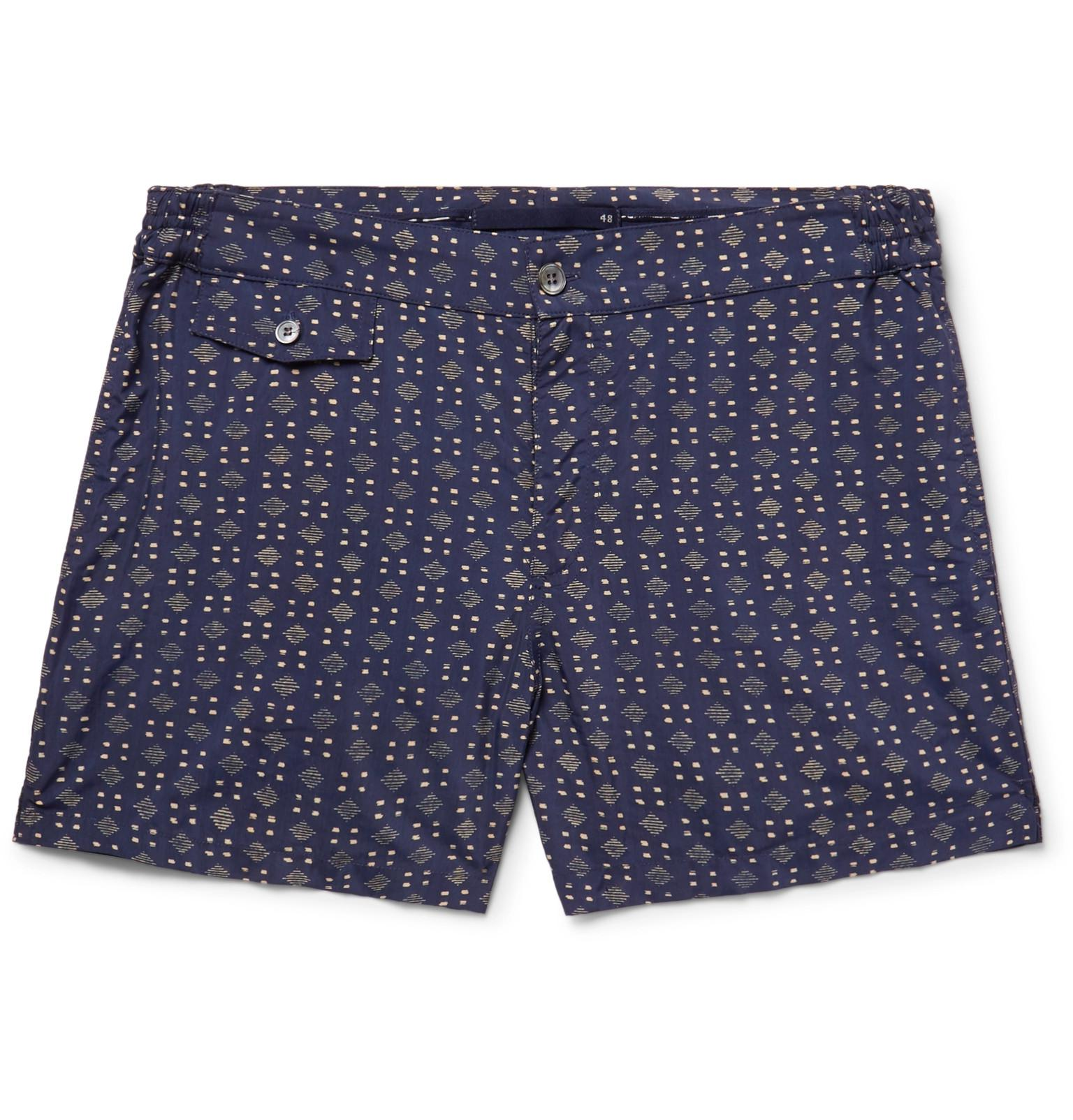 Incotex Slim-fit Short-length Printed Swim Shorts - Multi bqUC1e8YFF
