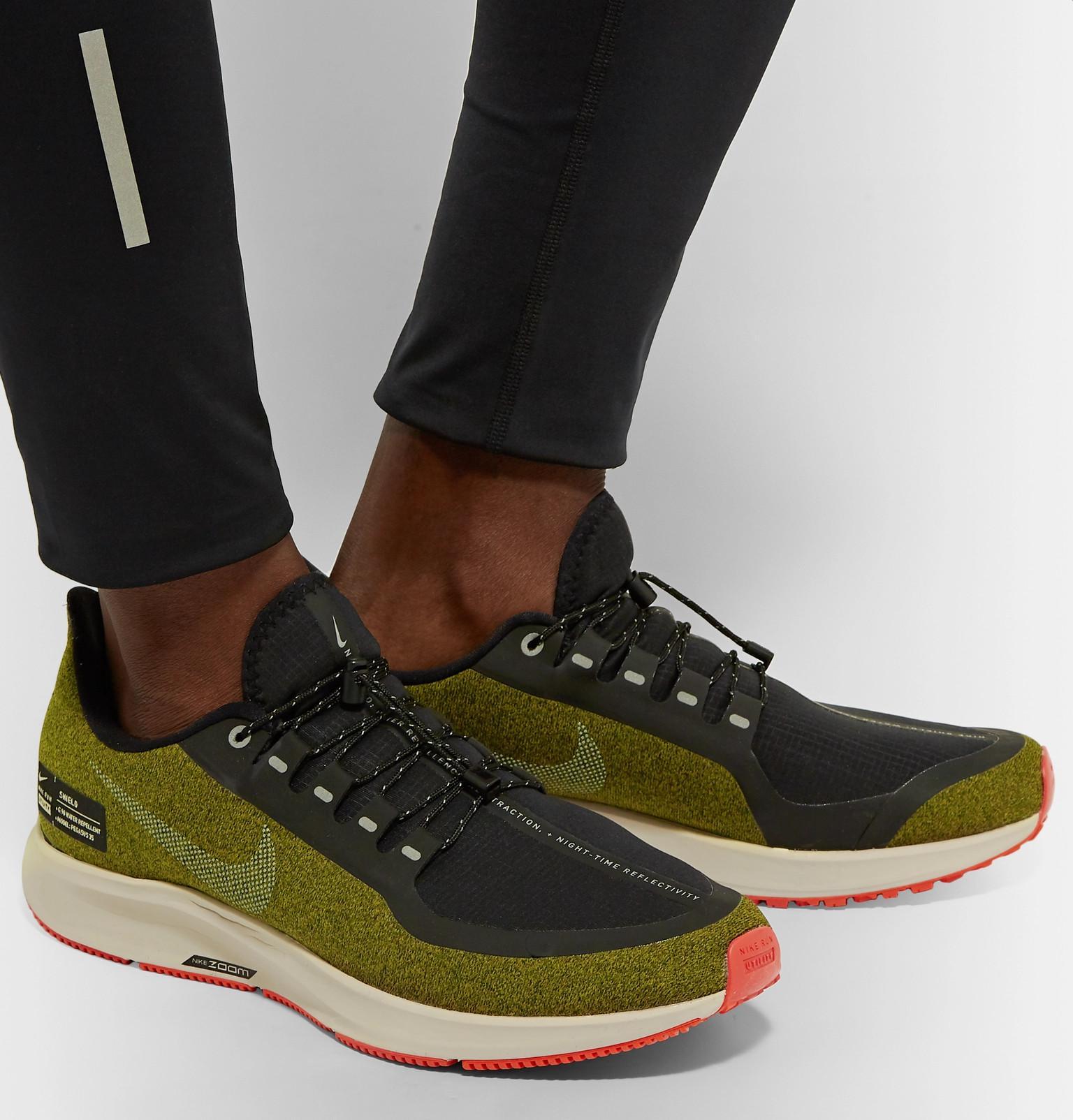 big sale 75b74 9c151 Nike - Green Air Zoom Pegasus 35 Shield Water-repellent Sneakers for Men -  Lyst. View fullscreen