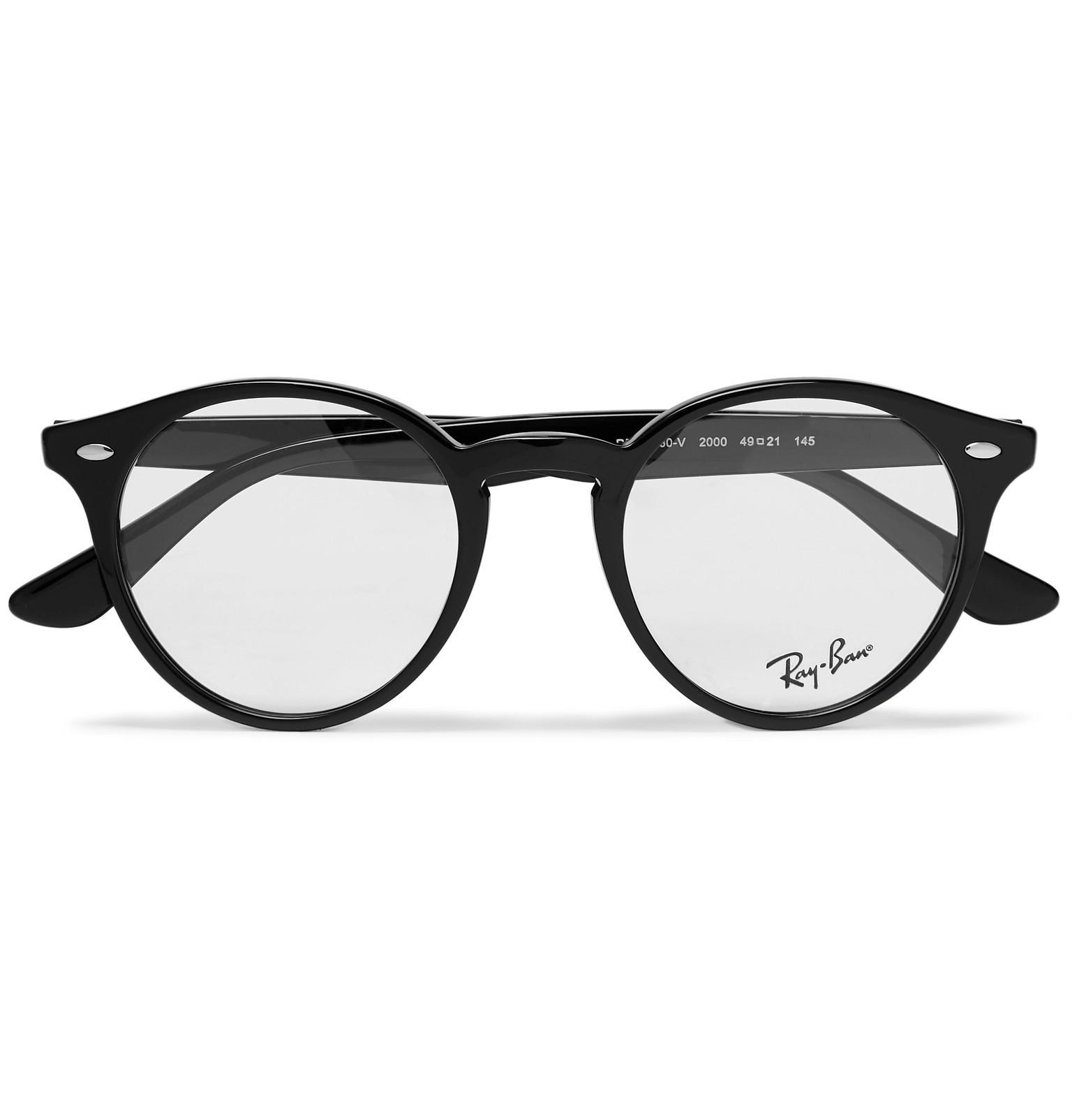 4a602fec9b Ray-Ban. Men s Black Round-frame Acetate Optical Glasses.  160 From MR  PORTER ...