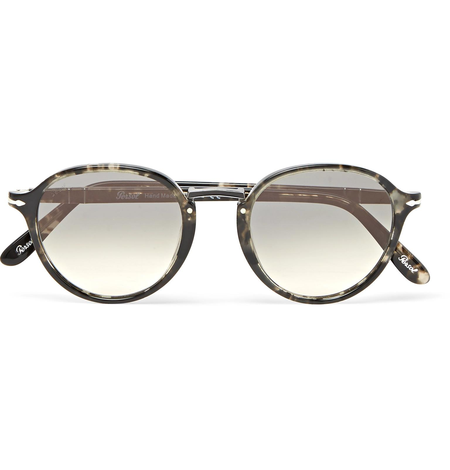 aef5ecab2f Lyst - Persol Round-frame Tortoiseshell Acetate Sunglasses in Gray ...