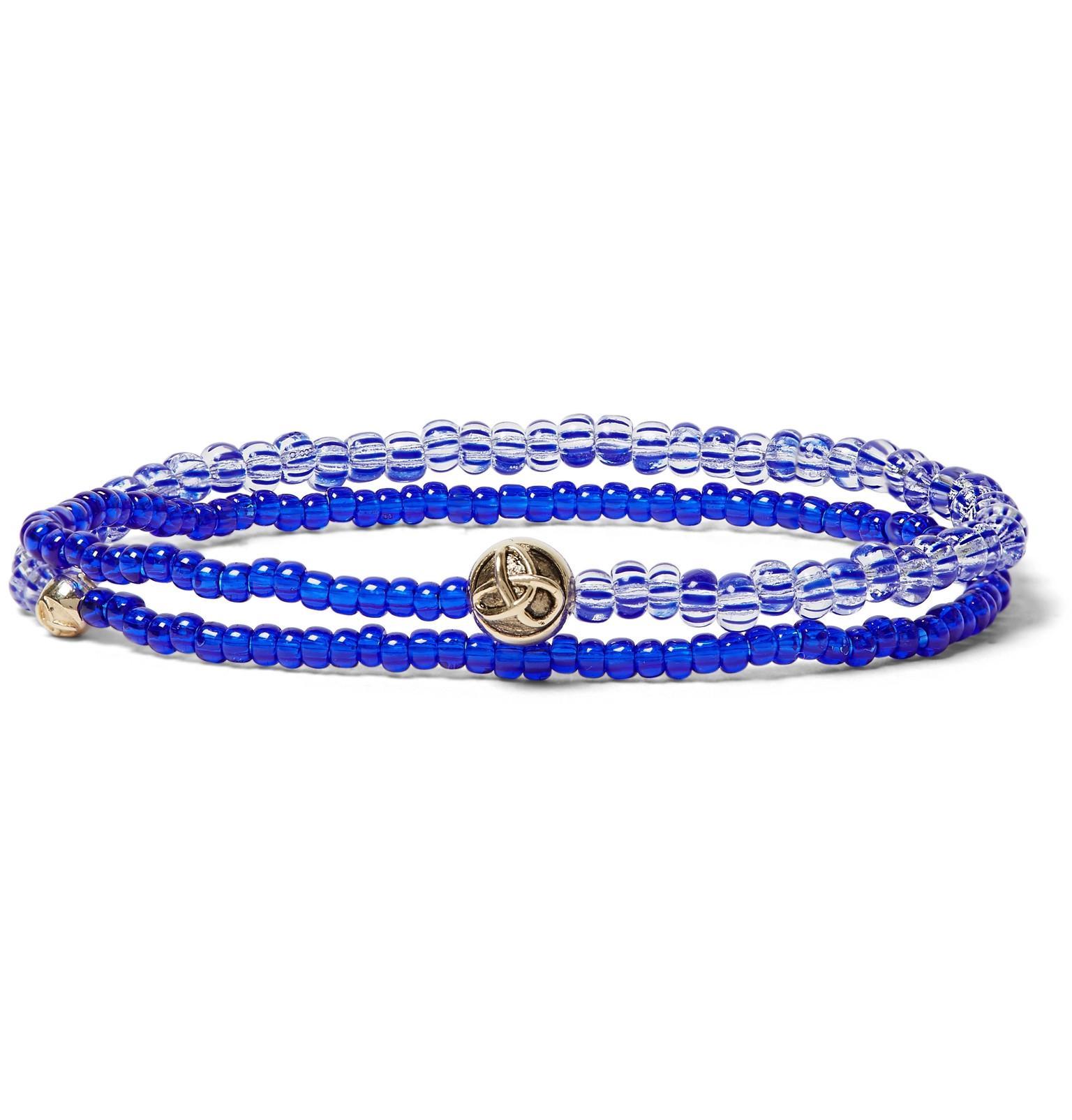 Glass Bead, Enamelled Gold And Diamond Wrap Bracelet Luis Morais
