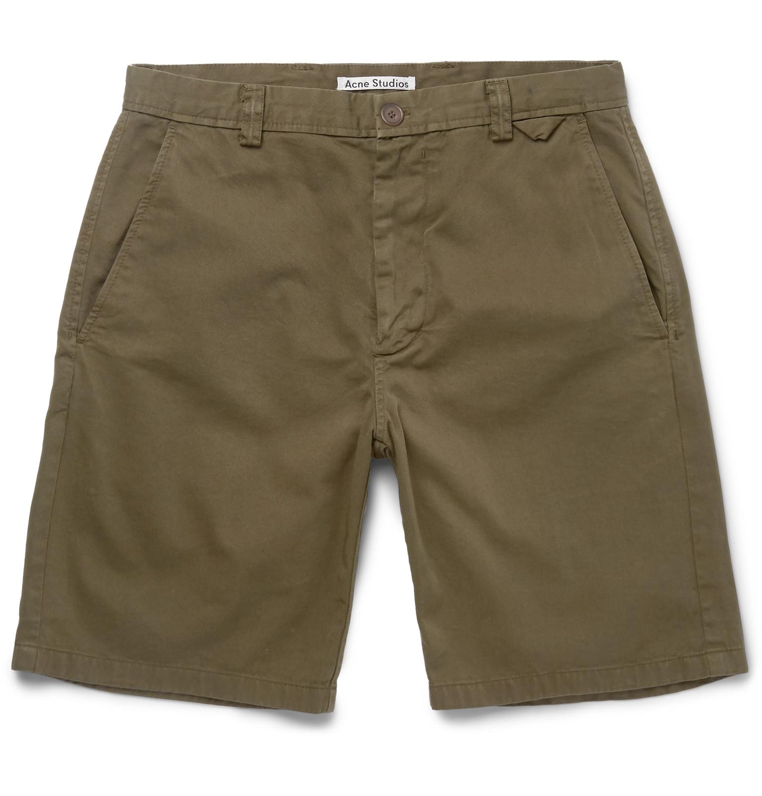 Nejlika Wide-leg Printed Cotton Shorts Acne Studios O4BASLPDLl