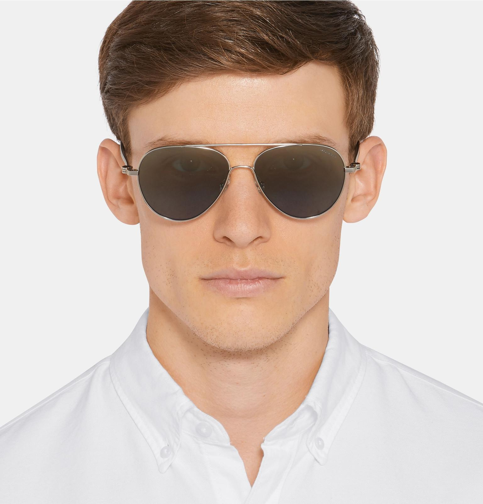 Sunglasses Lyst Plated Blue Palladium In Men For Moncler Aviator Style IqwIBr