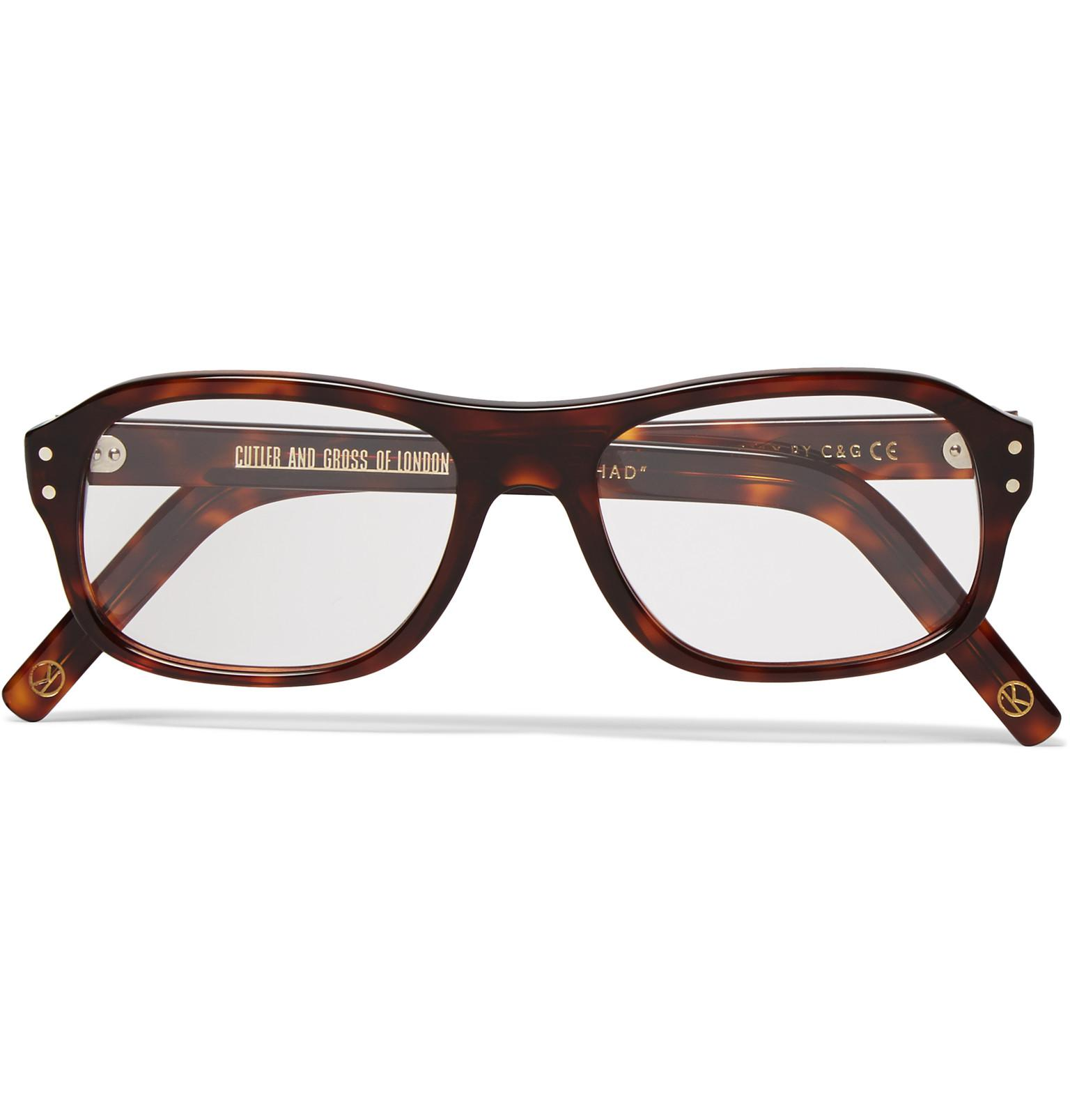 0631fb6614e Kingsman. Men s Brown + Cutler And Gross Square-frame Tortoiseshell Acetate Optical  Glasses