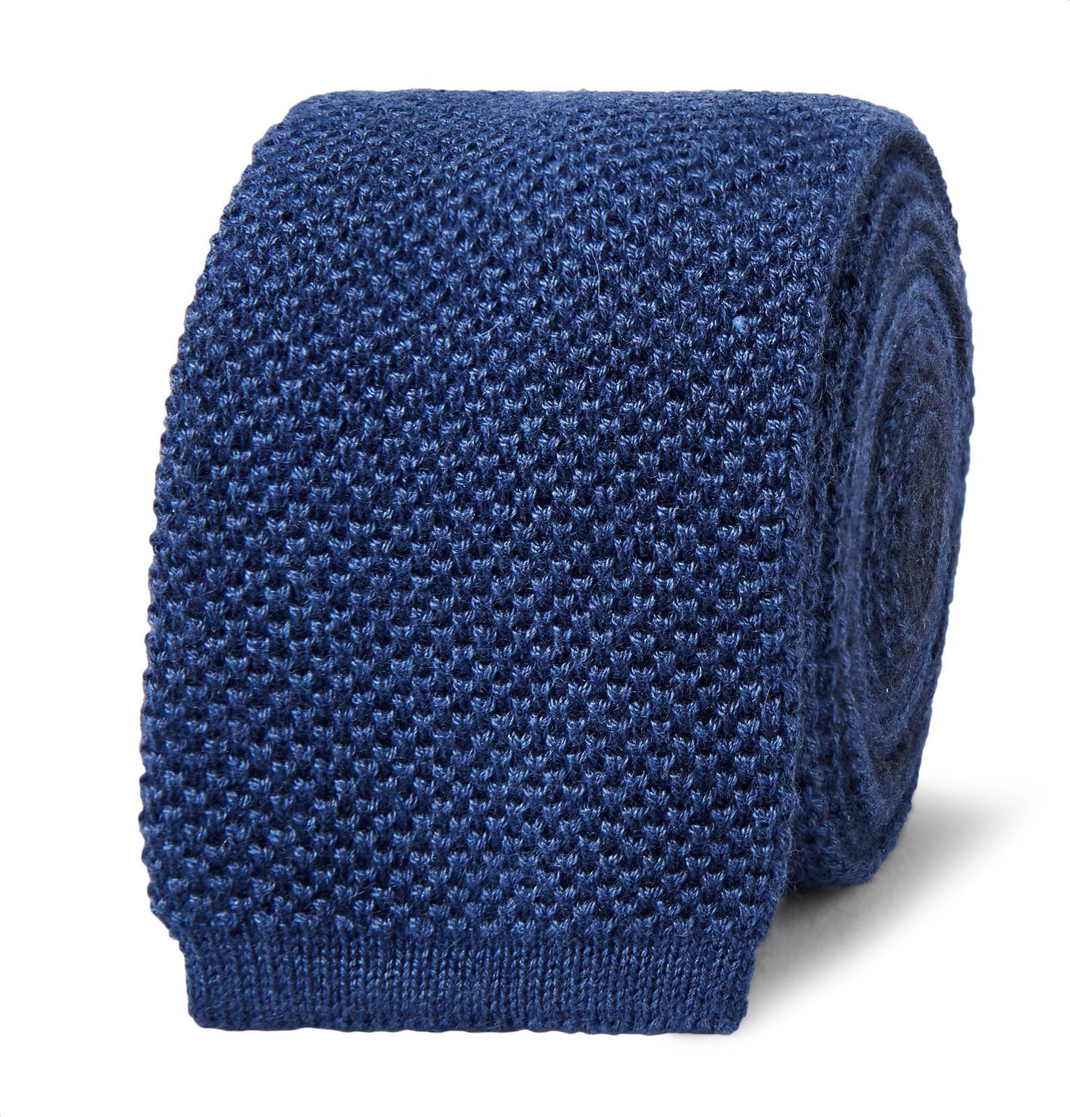 6.5cm Reversible Two-tone Knitted Silk Tie Berluti NQ4Ciqt