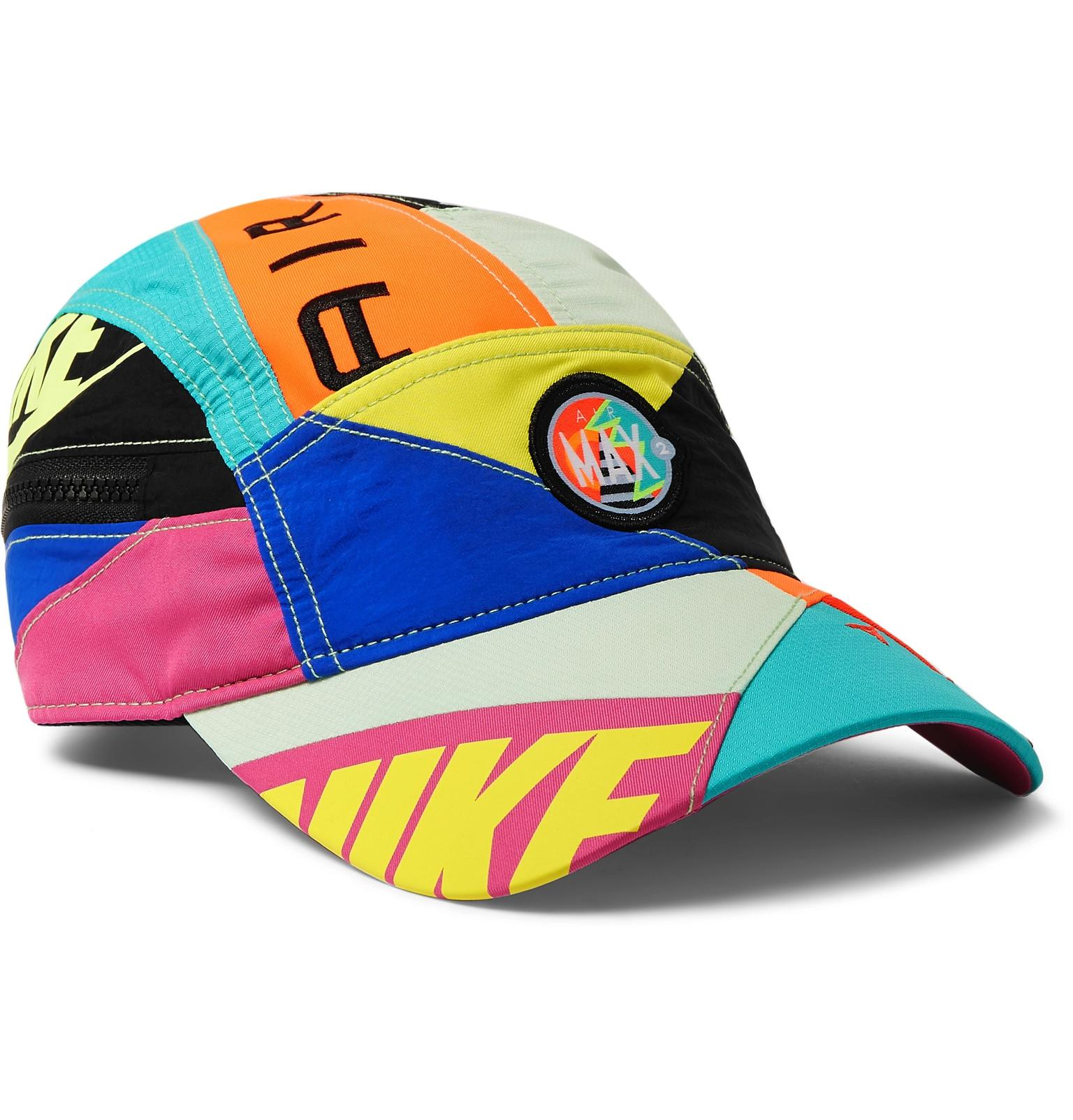 92a2392ede Nike + Atmos Aw84 Panelled Shell Baseball Cap in Blue for Men - Lyst