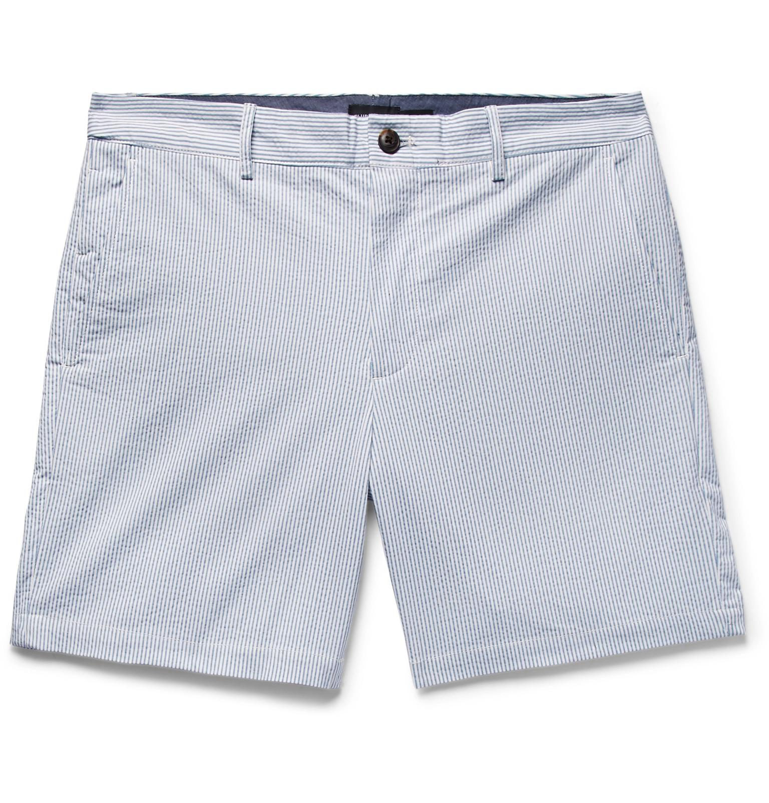 Baxter Slim-fit Stretch Linen And Cotton-blend Shorts Club Monaco K2mT2I6r