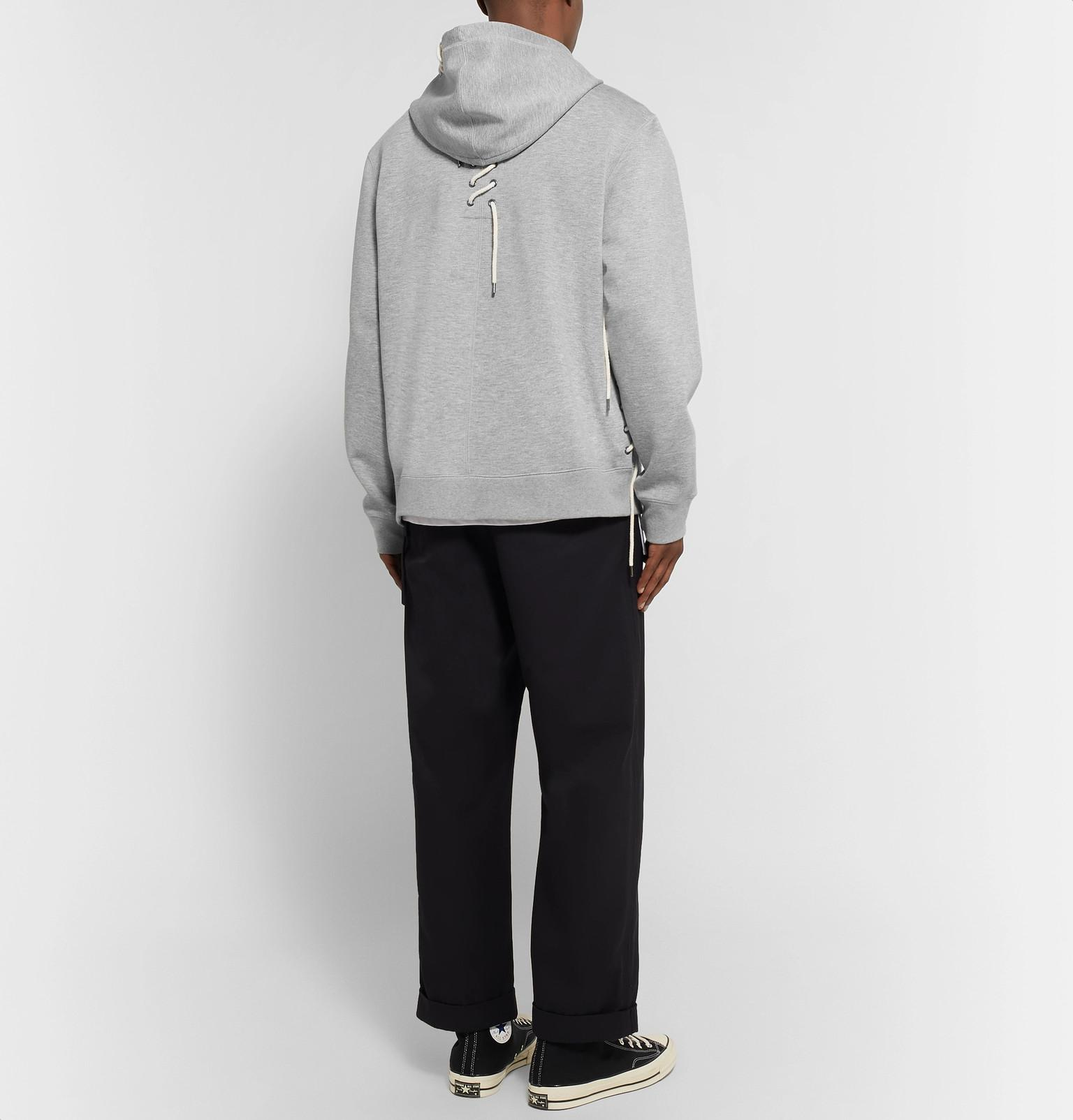 Green Craig Lace Jersey Hoodie For Mélange View Lyst Gray Detailed Fullscreen Bonded Men fdqxrFdU
