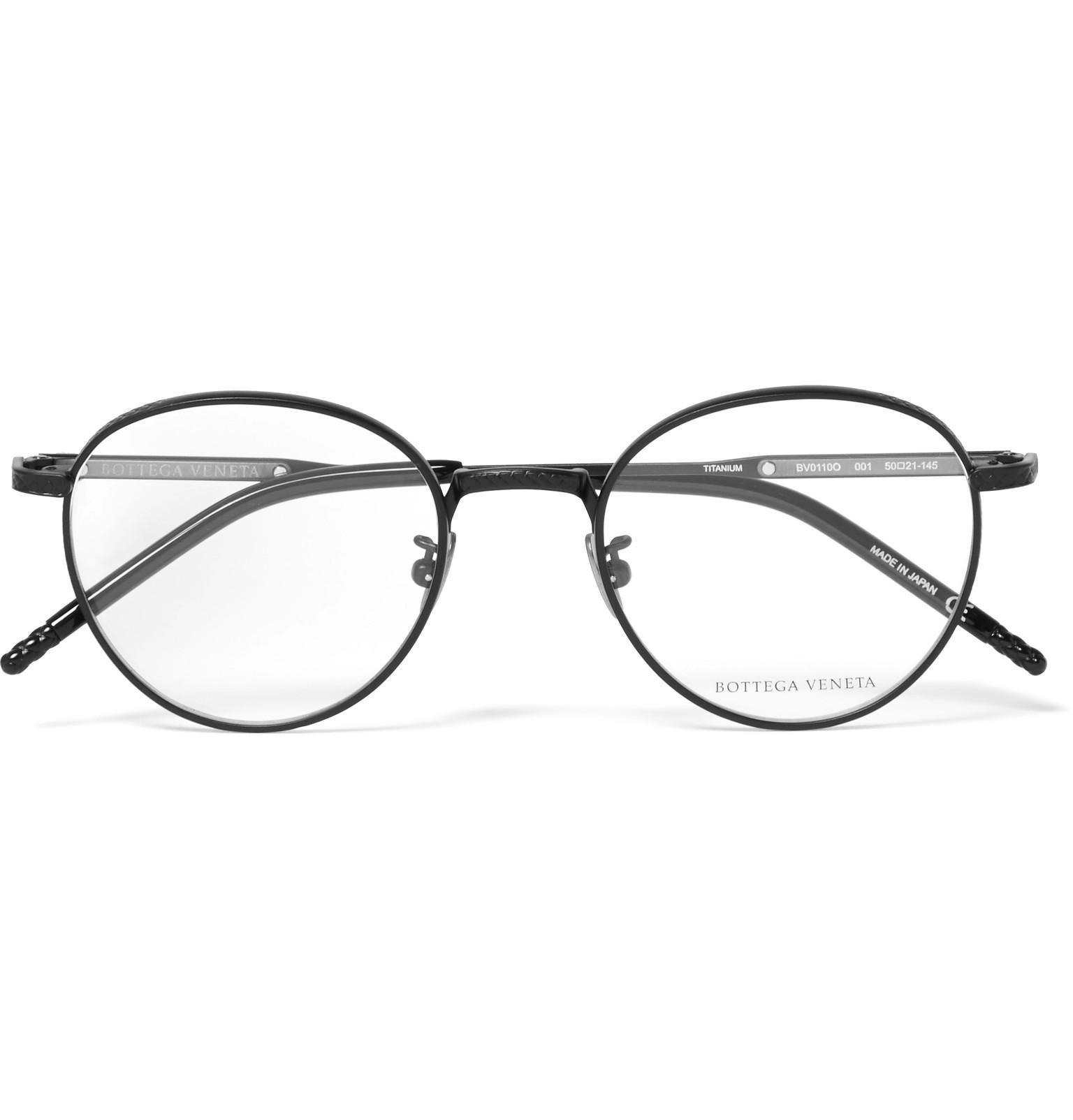 7a34150f6 Bottega Veneta Round-frame Titanium And Acetate Optical Glasses in ...