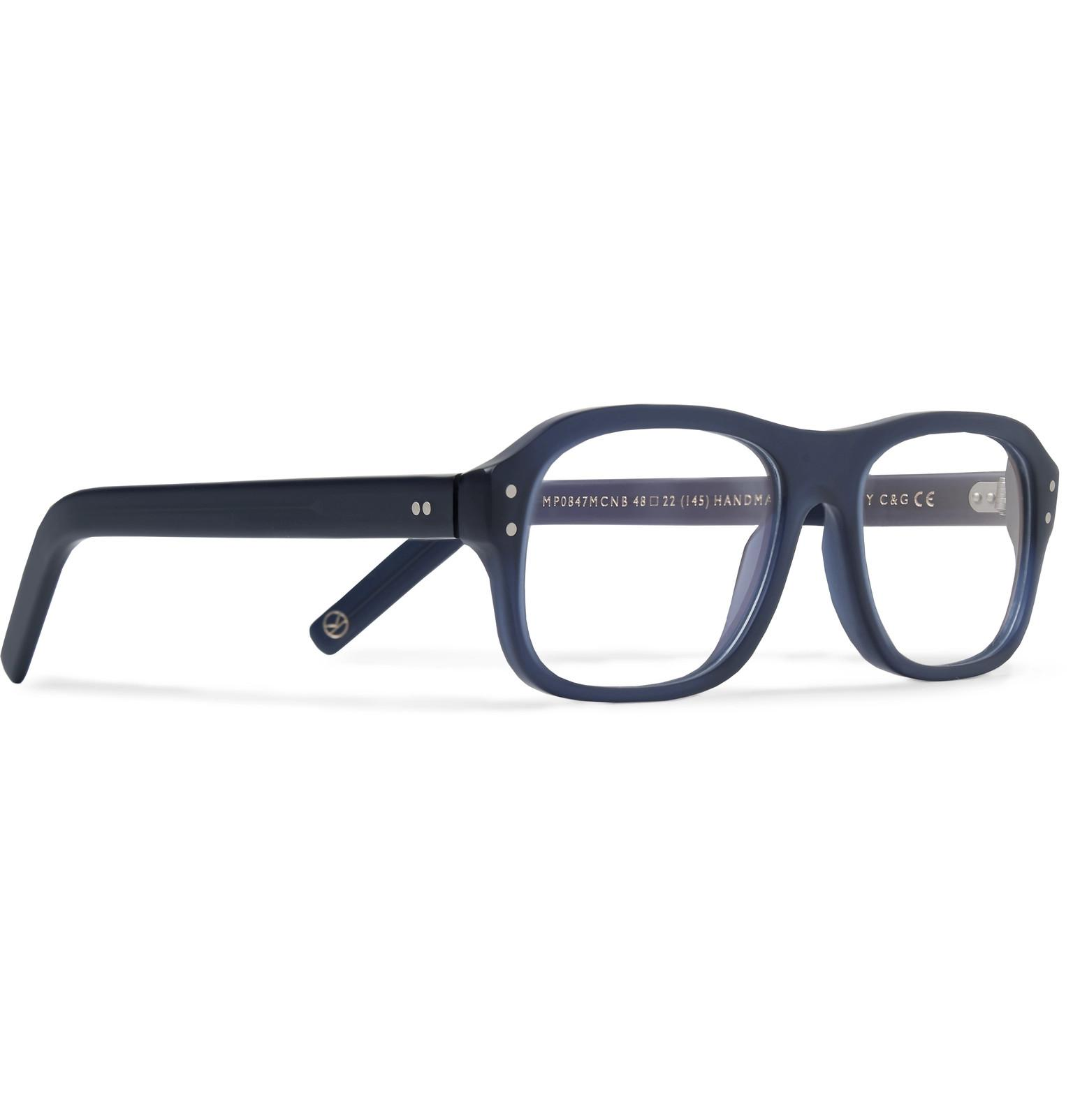 fbae7a4078c Kingsman - Blue + Cutler And Gross Eggsy s Square-frame Acetate Optical  Glasses for Men. View fullscreen