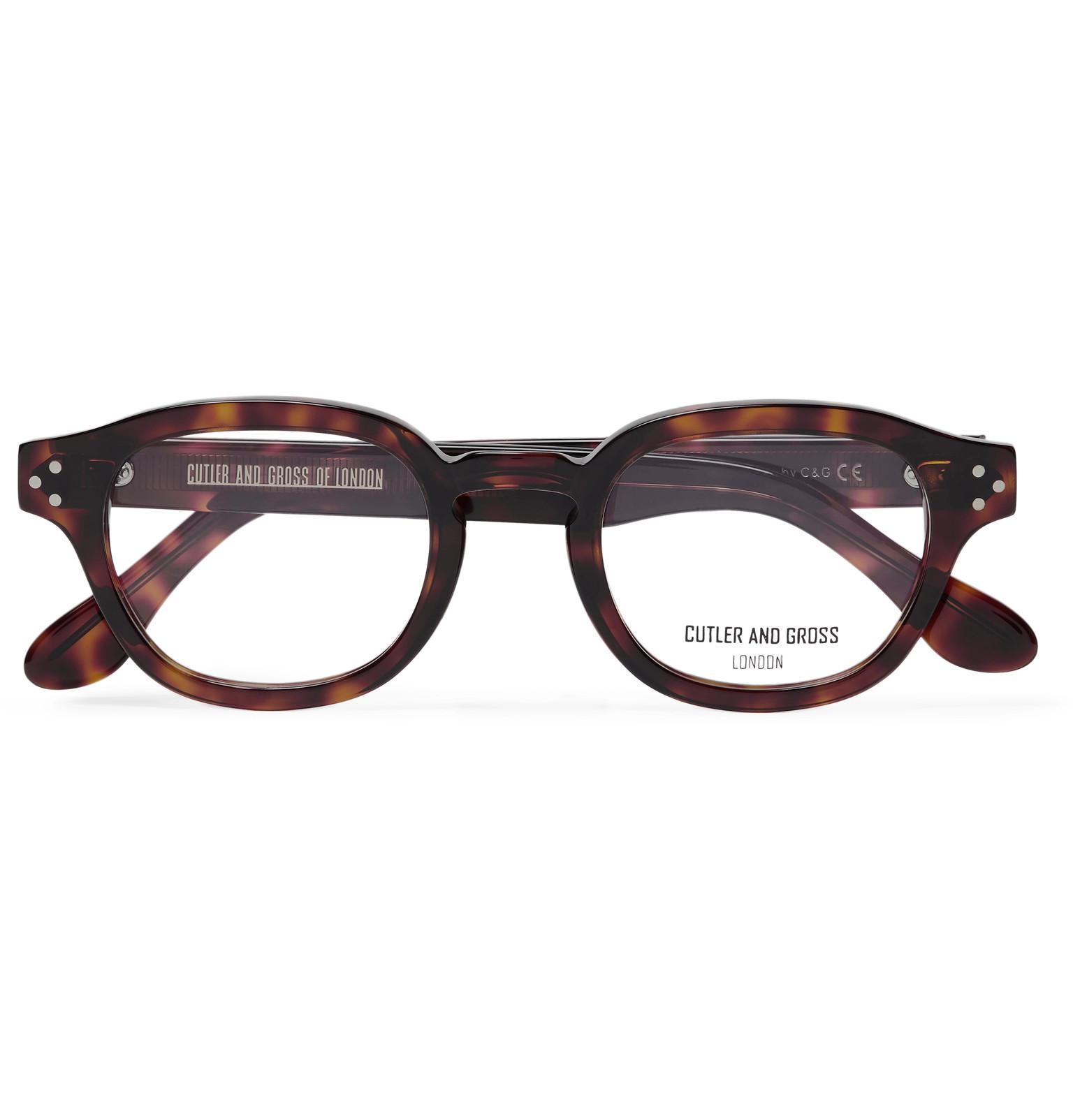 15ec4fb11 Cutler & Gross. Men's Brown Round-frame Tortoiseshell Acetate Optical  Glasses