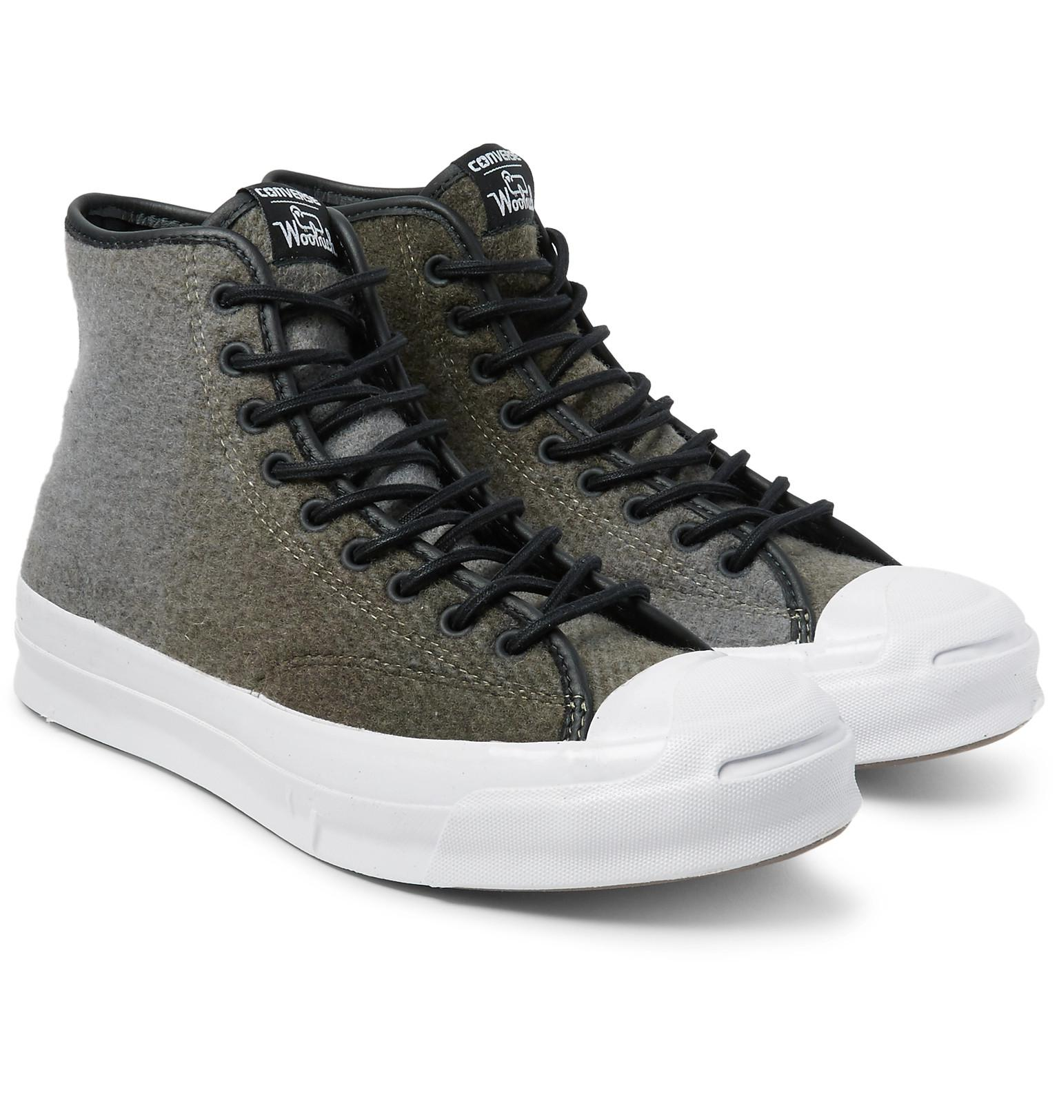 82b070b5c739 Lyst - Converse + Woolrich Jack Purcell Signature Wool High-top ...