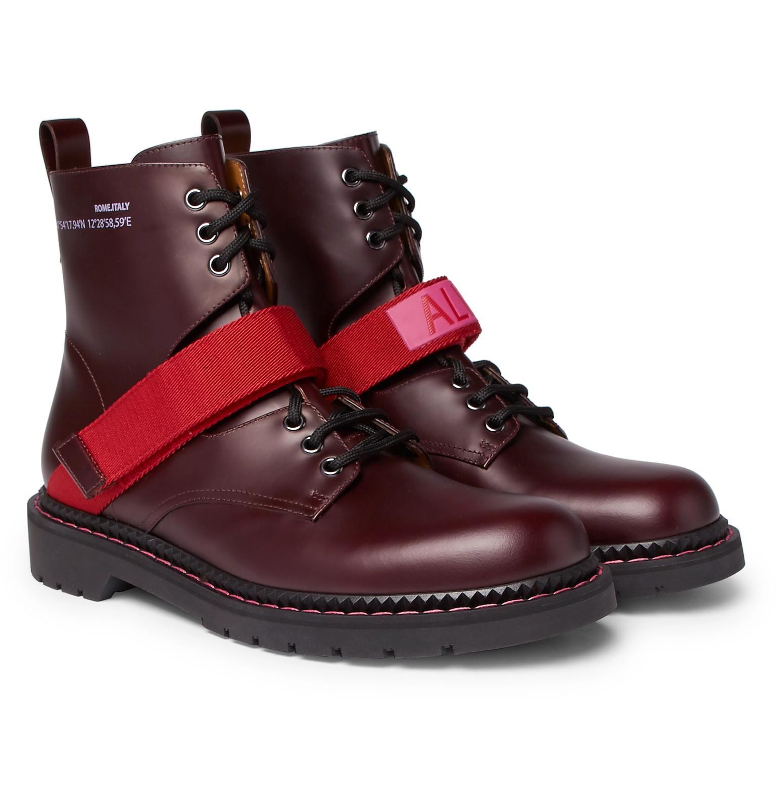 f6f5f1aca54ded Lyst - Valentino Garavani Coordinates Grosgrain-trimmed Leather ...
