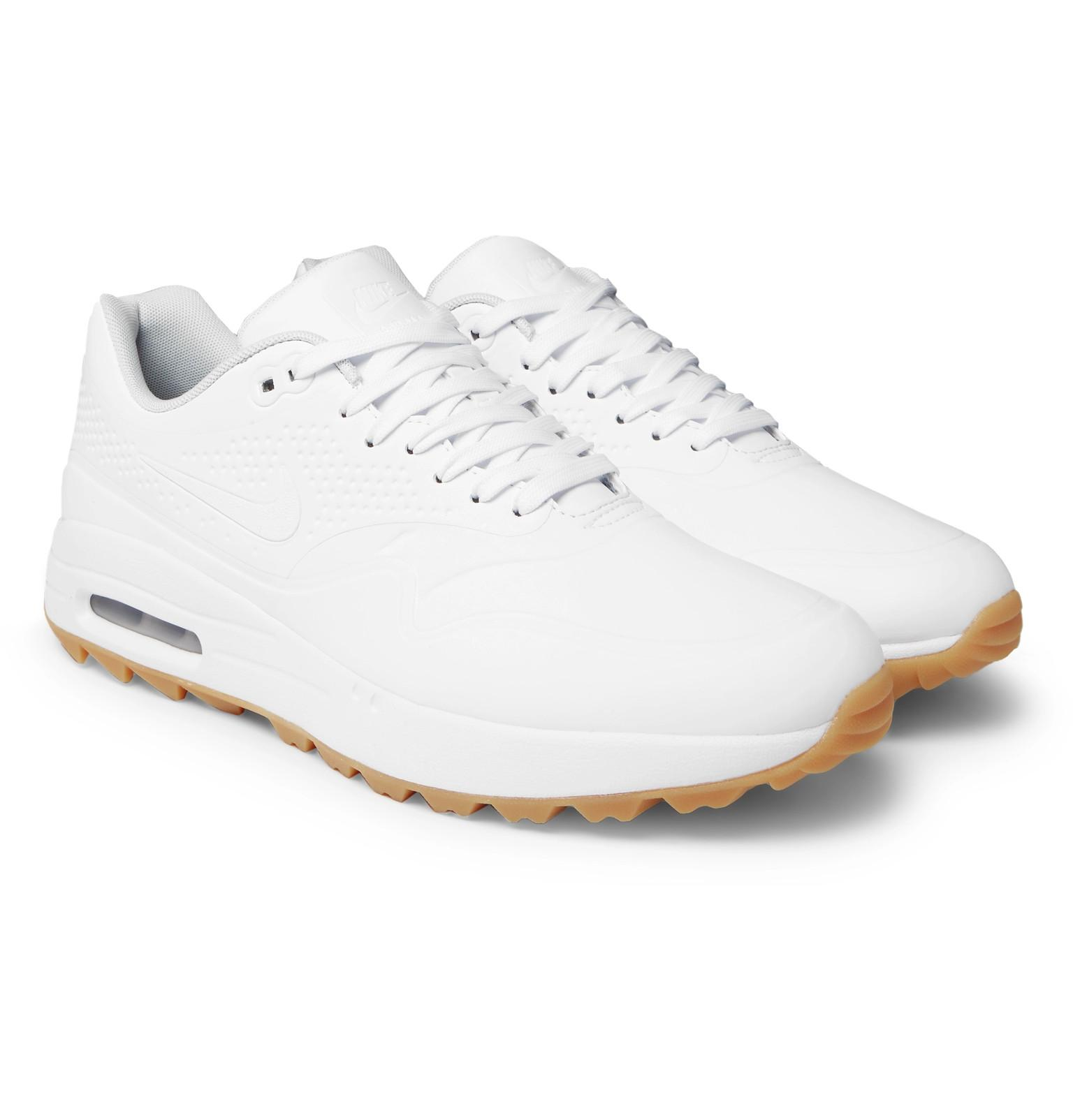 separation shoes 0c709 f7caa Nike Air Max 1g Coated Mesh Golf Shoes in White for Men - Lyst