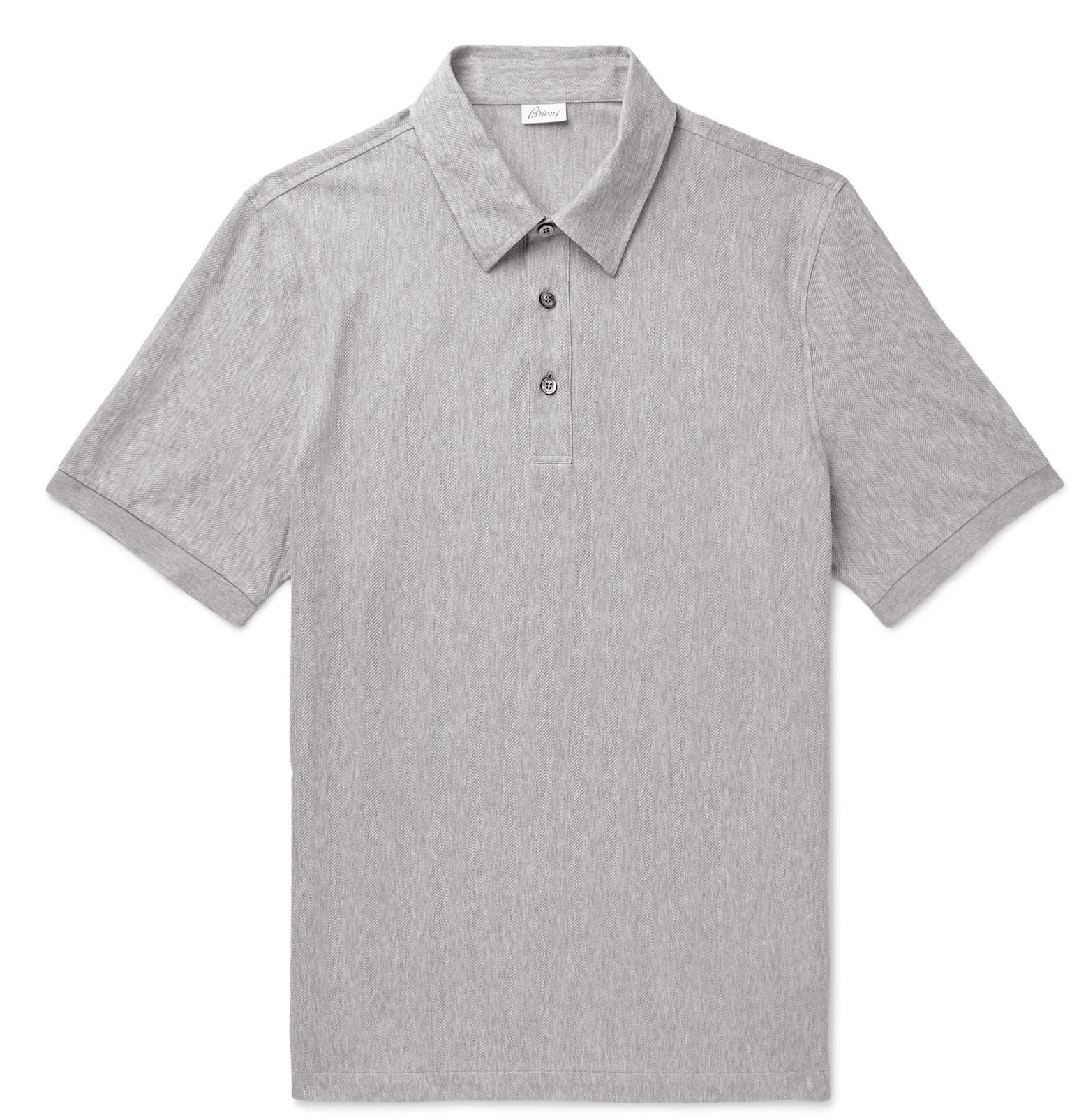 d80743de83 brioni-gray-Herringbone-Cotton-jersey-Polo-Shirt.jpeg