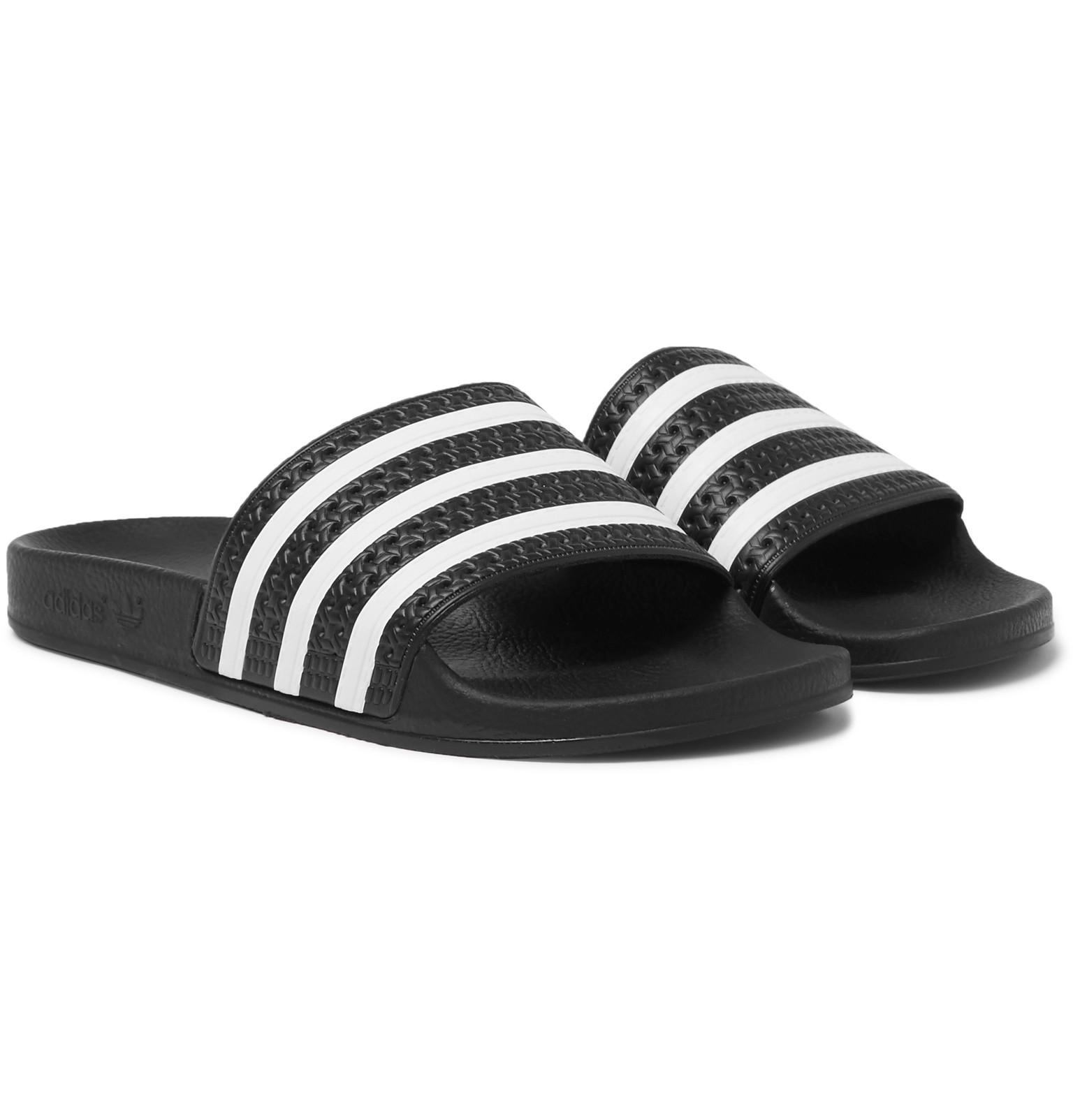39db44c6a3d5d2 Adidas Originals Adilette Textured-rubber Slides in Black for Men - Lyst