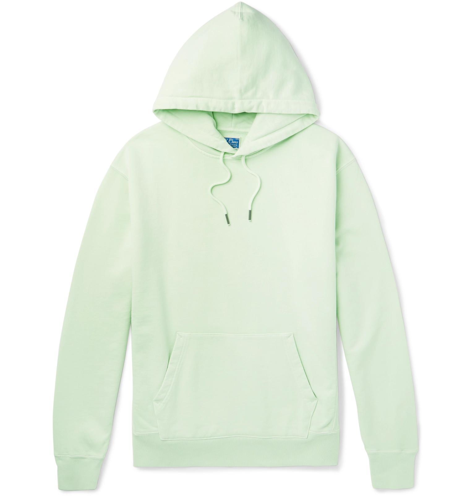 J.Crew Garment-dyed Loopback Cotton-jersey Hoodie - Green hNTeyX