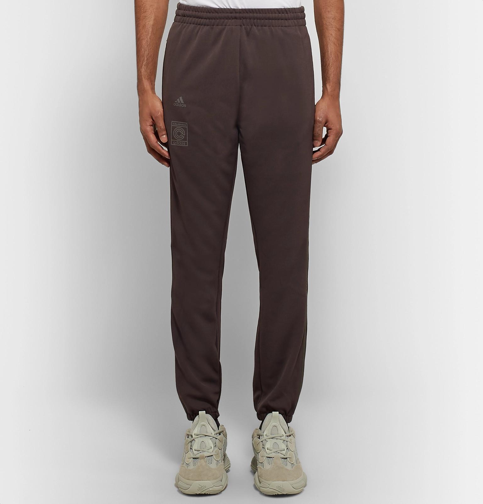 8afa9066 Adidas Originals - Brown + Yeezy Calabasas Striped Jersey Sweatpants for Men  - Lyst. View fullscreen