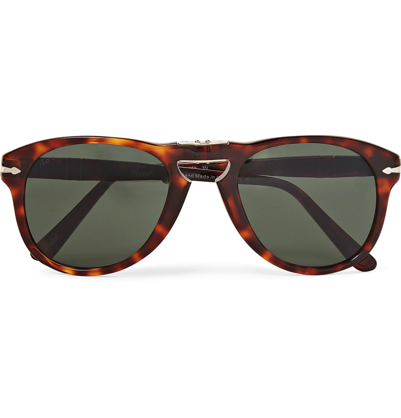 d78b74ac8f Lyst - Persol 714 Folding D-frame Acetate Sunglasses in Brown for Men