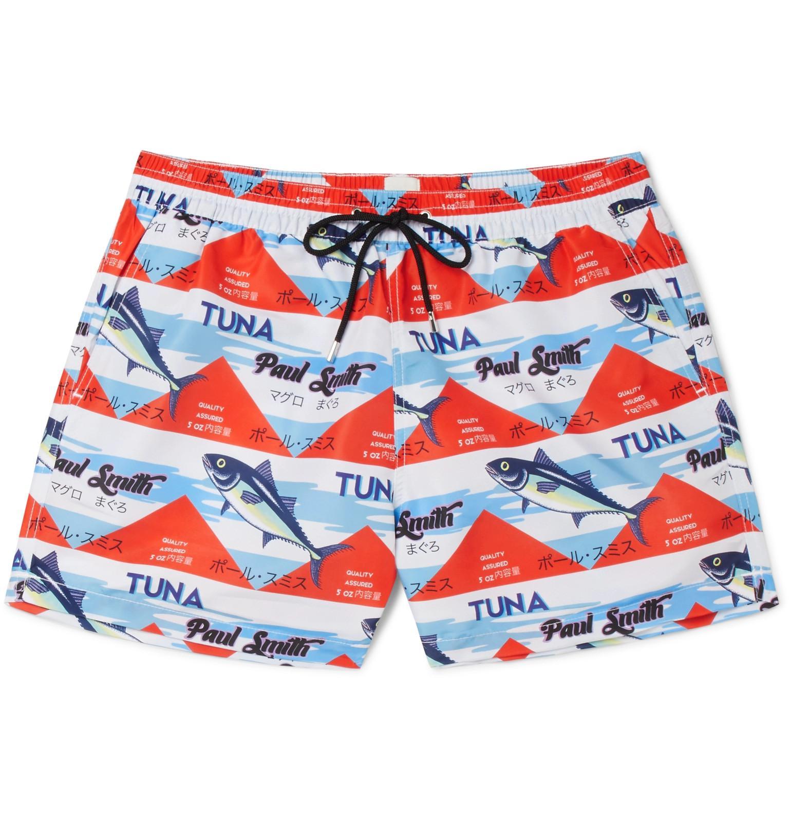 Paul Smith Short-length Printed Swim Shorts - Multi e3WR5s4A6