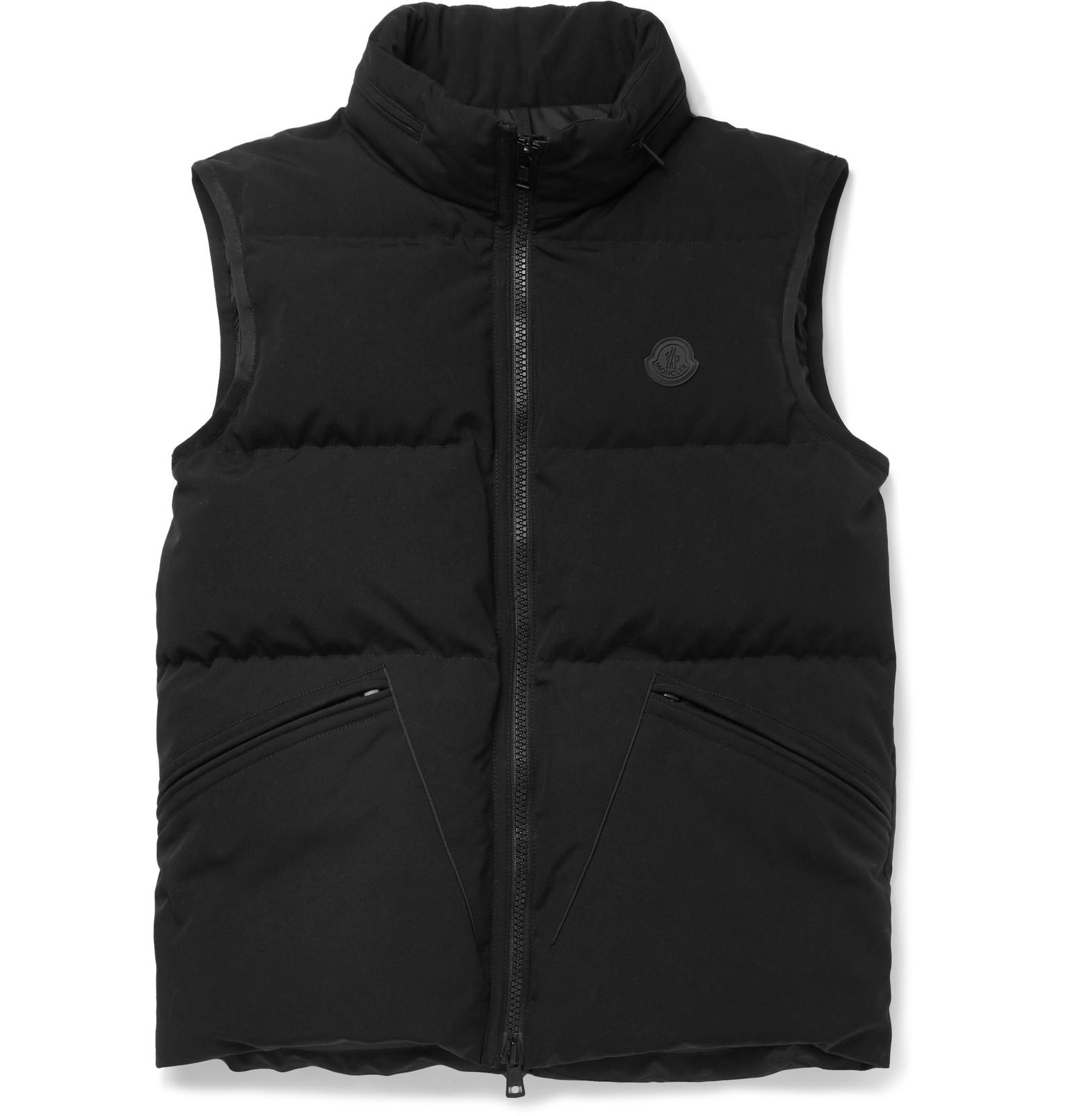 173b095b5 Moncler Lognan Quilted Shell Hooded Down Gilet in Black for Men - Lyst