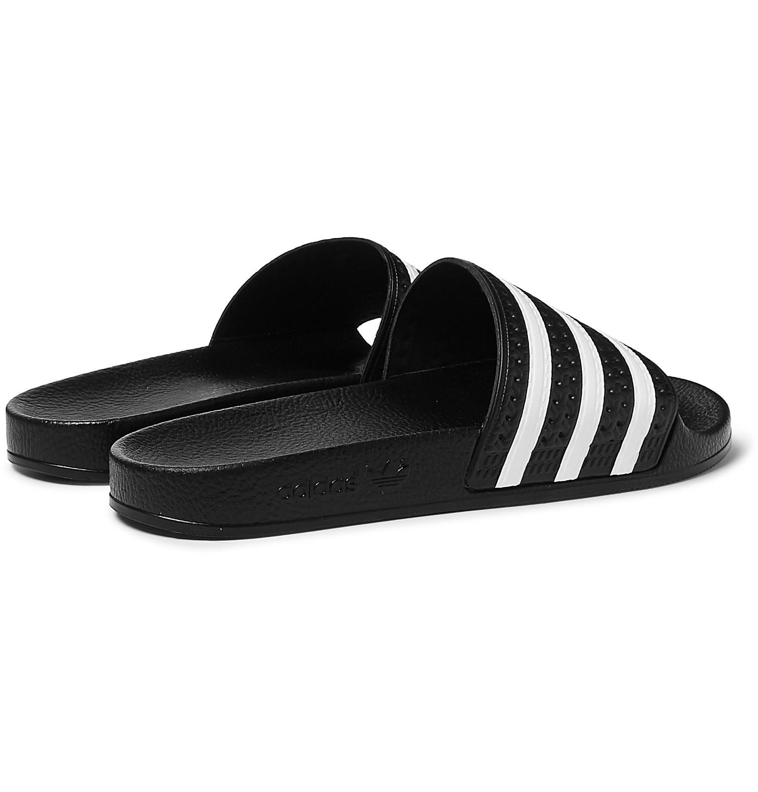 9a0c715dd9e43e Adidas Originals - Black Adilette Textured-rubber Slides for Men - Lyst.  View fullscreen