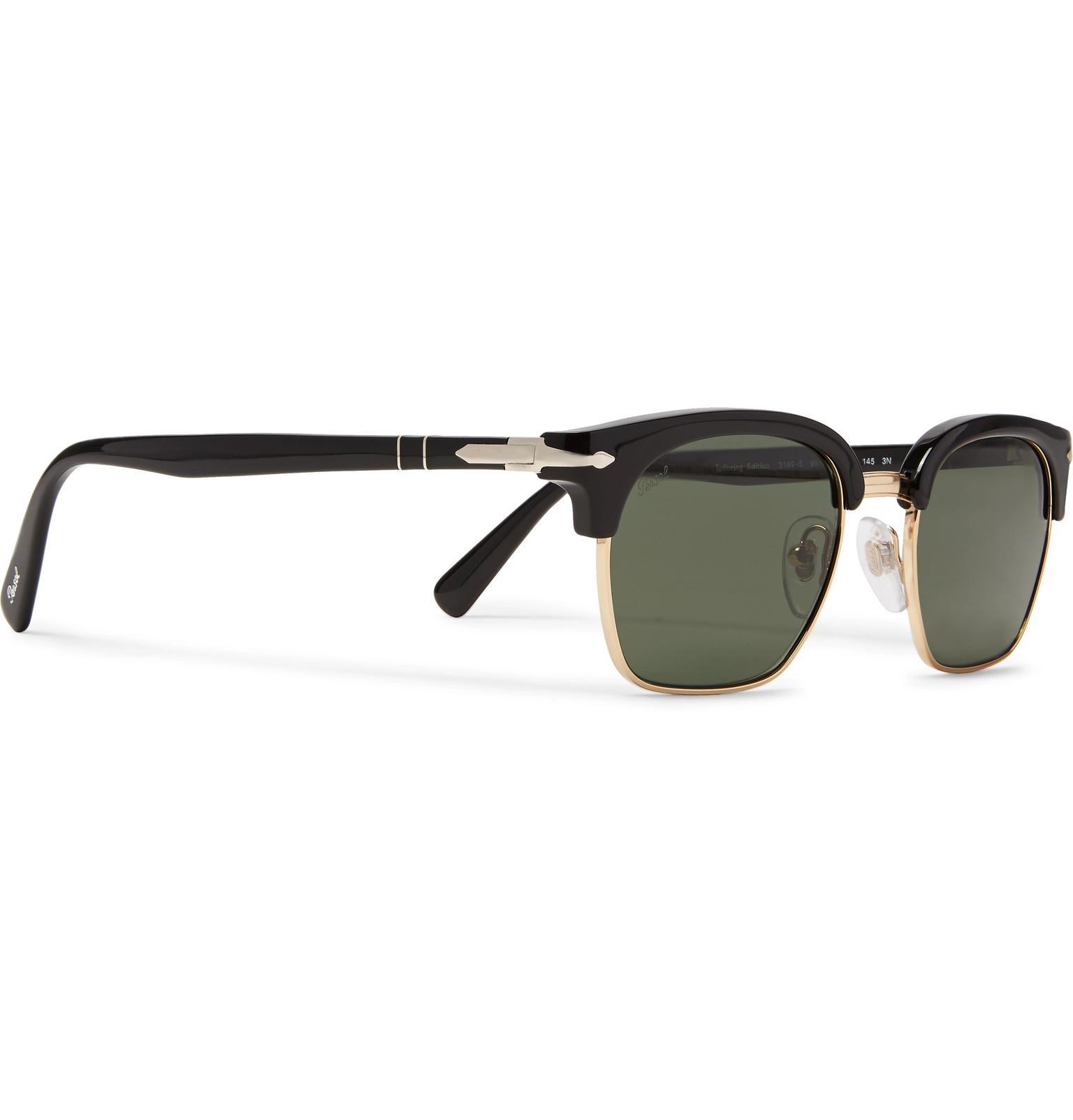 1a4da26ddf Persol - Black D-frame Gold-tone And Acetate Sunglasses for Men - Lyst.  View fullscreen