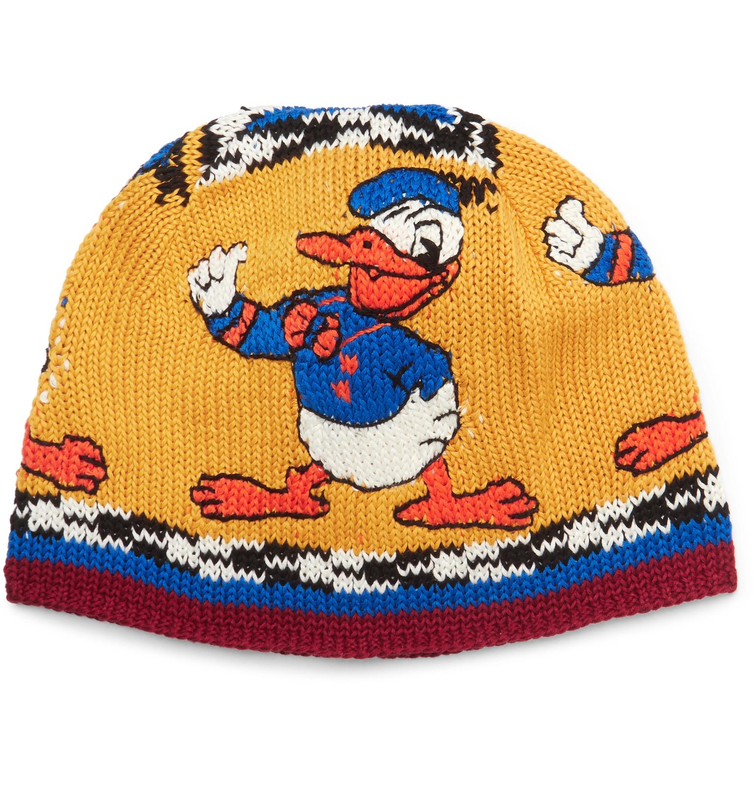 d2b6720ce94 Lyst - Gucci Disney Intarsia Cotton Beanie in Yellow for Men