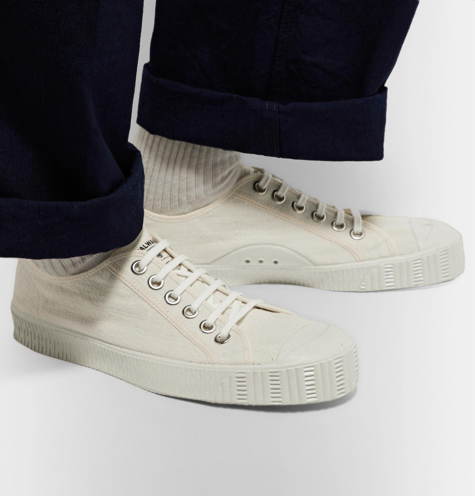 the best attitude a560f 2f520 spalwart-cream-Special-Cap-toe-Linen-canvas-Sneakers.jpeg