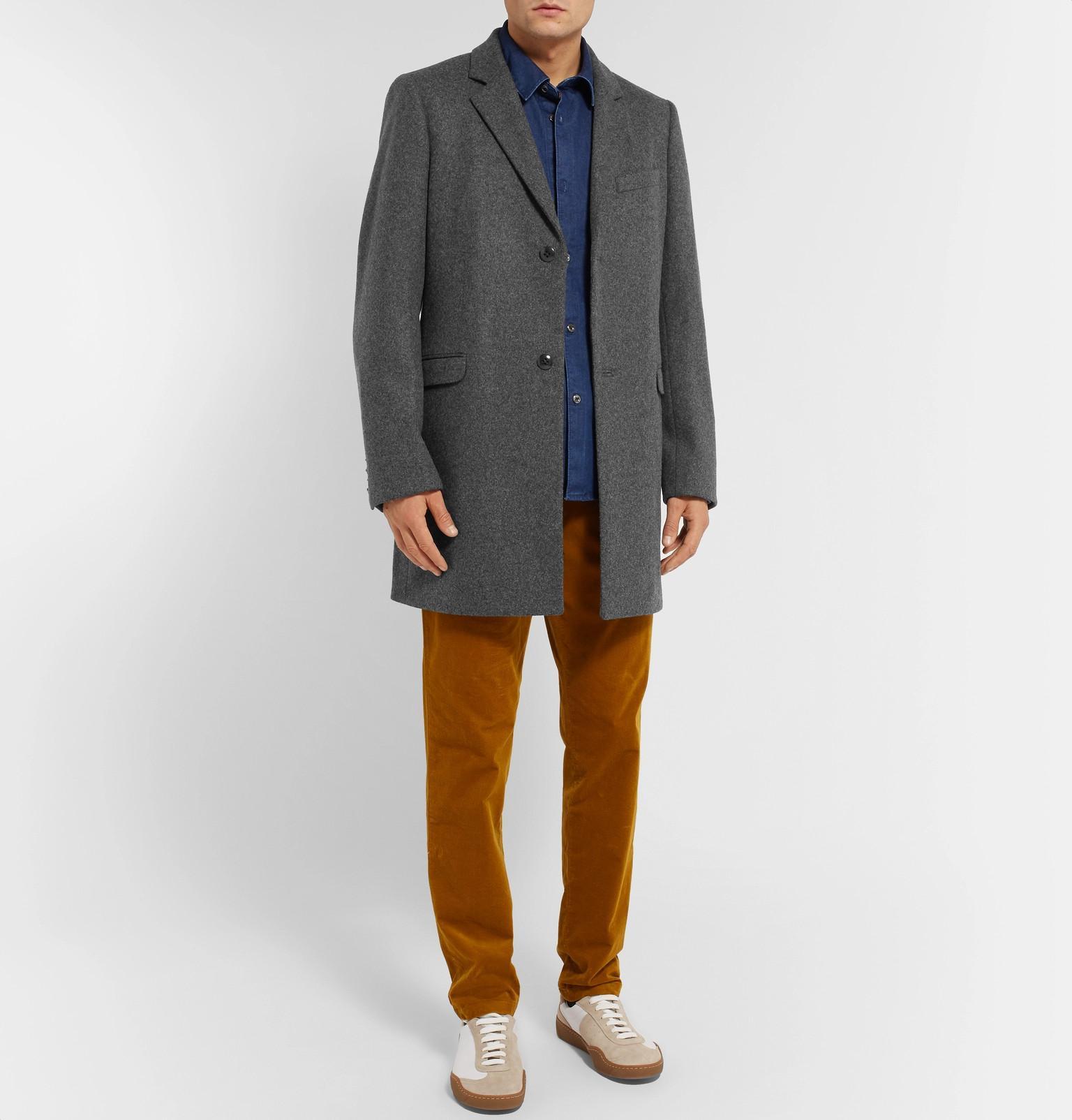 Folk Wool Gray Men In Lyst Blend For Prappszqw Coat PqzPfwH
