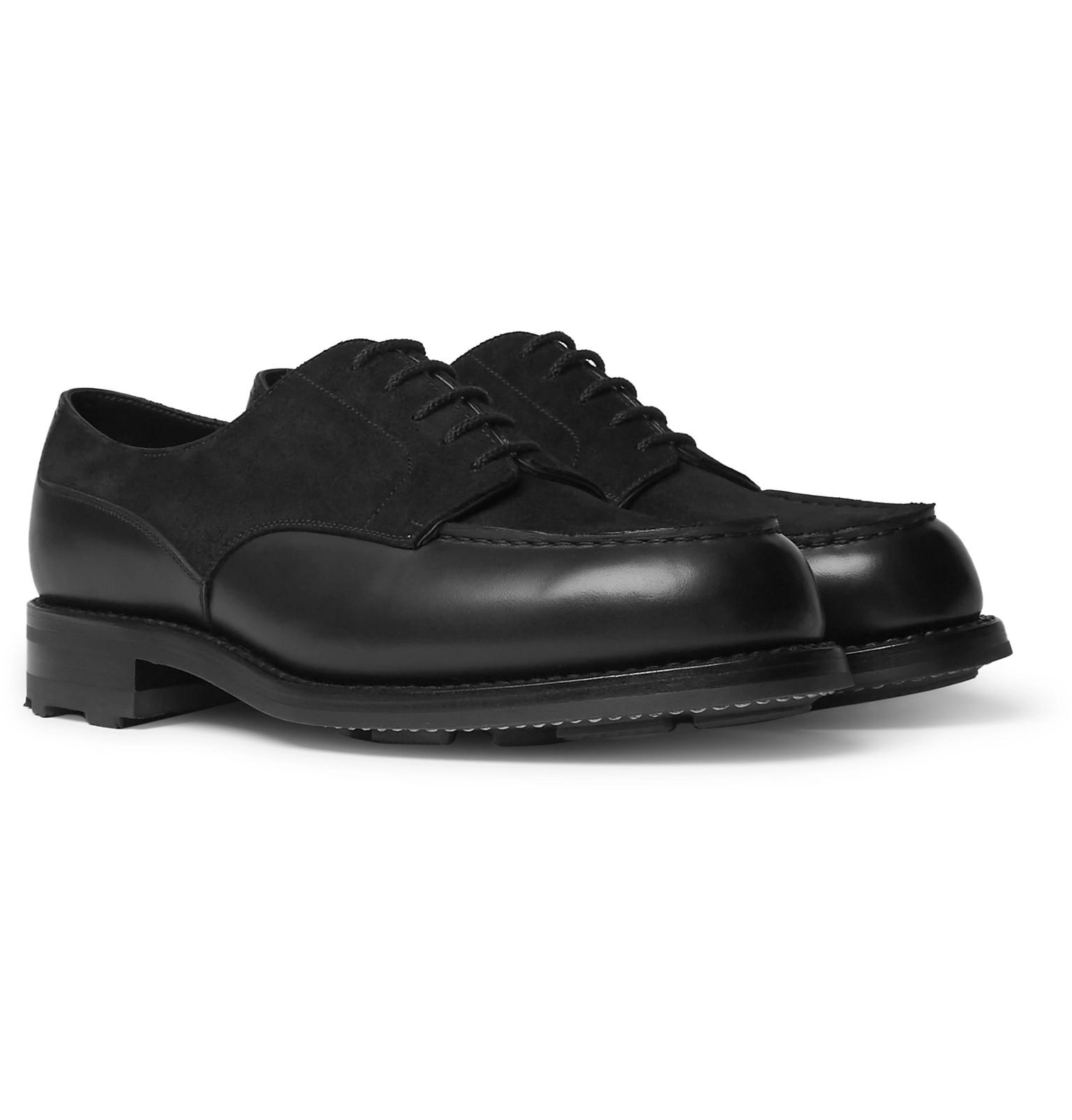 e8296dde8c8d4a J.M. Weston Suede And Leather Derby Shoes in Black for Men - Lyst