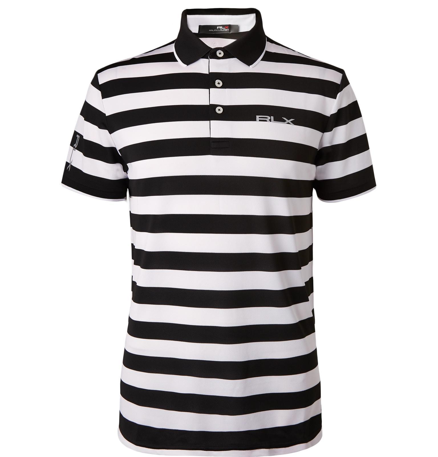 9ff227888 Lyst - RLX Ralph Lauren Striped Tech-piqué Golf Polo Shirt in White ...