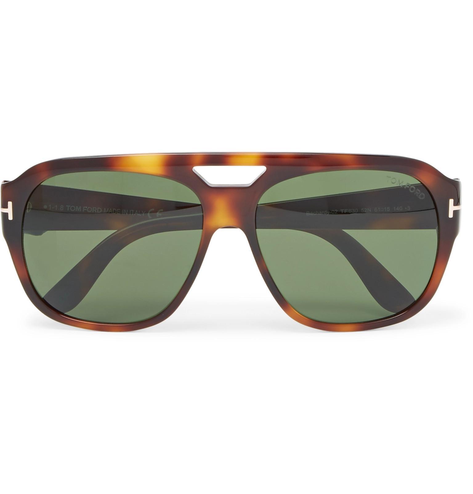 c96e6038d5ed7 Tom Ford Bachardy Aviator-style Tortoiseshell Acetate Sunglasses in ...