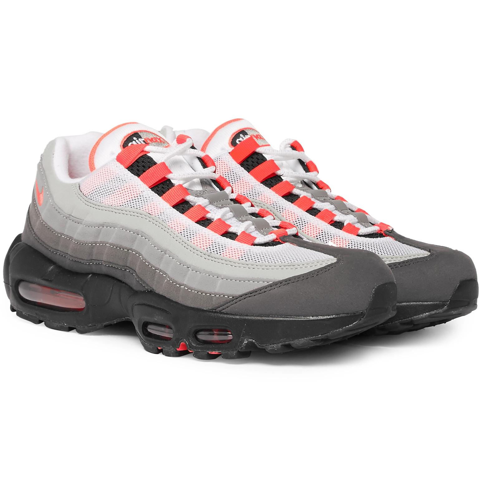 83fd6741f1 Nike Air Max 95 Og Grosgrain-trimmed Faux Suede And Mesh Sneakers in ...