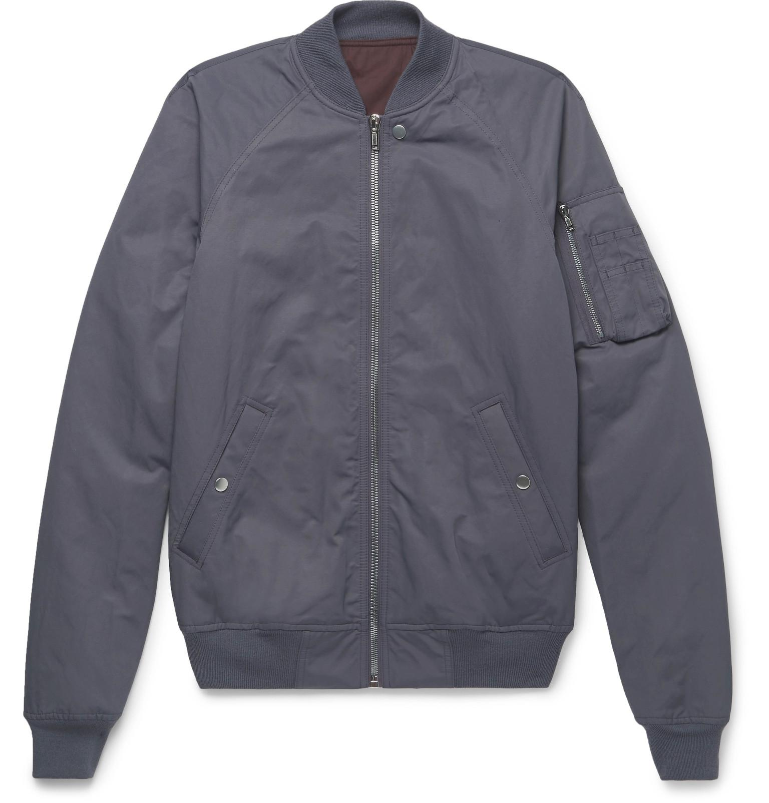 3b70dbc1c Rick Owens Cotton-blend Faille Bomber Jacket in Purple for Men - Lyst